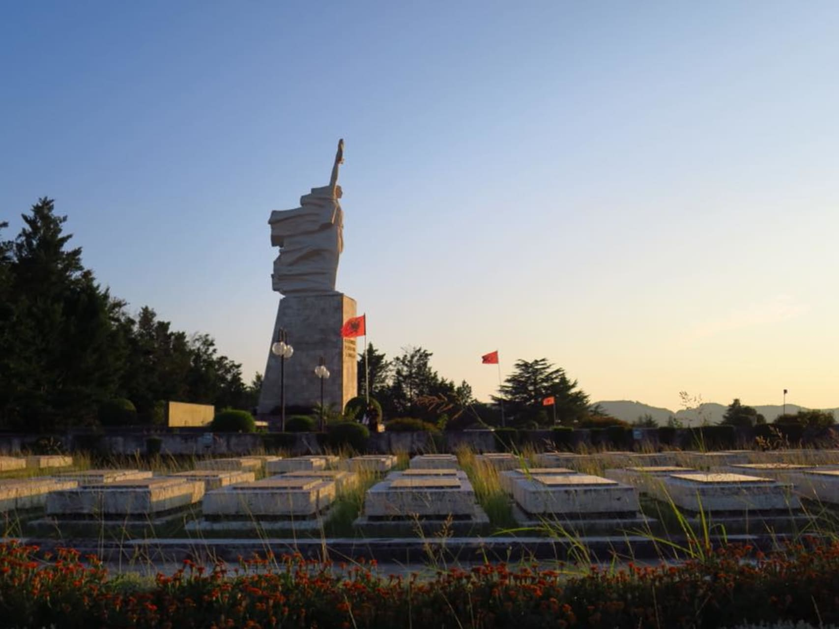 Tirana - Monument of mother Albania and the National Martyrs Cemetery