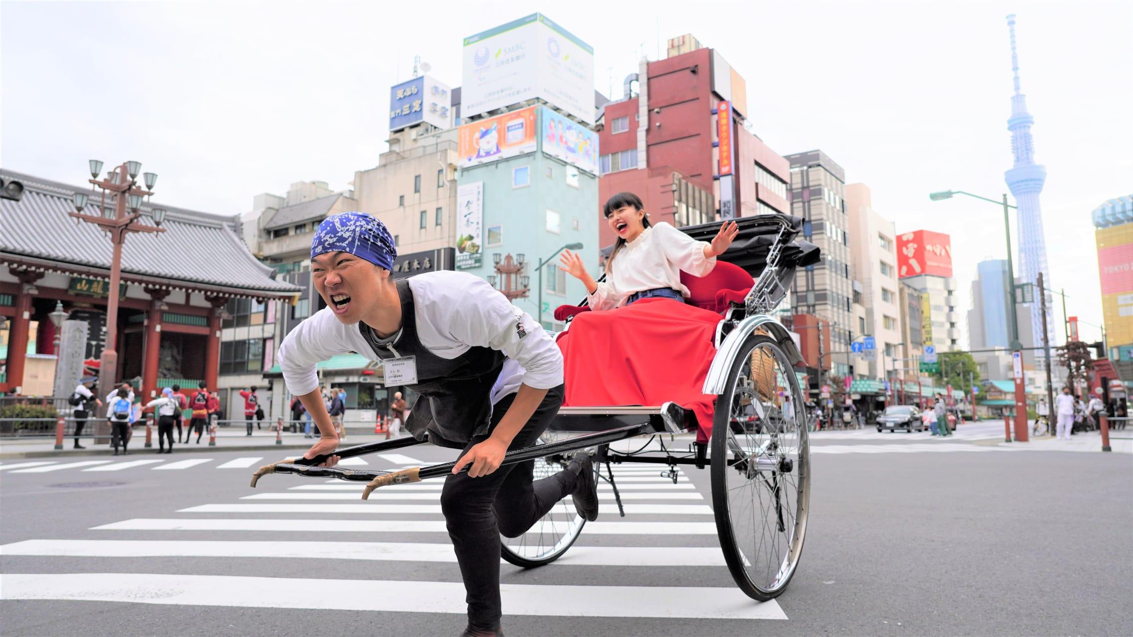 Tokyo - Rickshaw Experience. Running through Tokyo's Asakusa