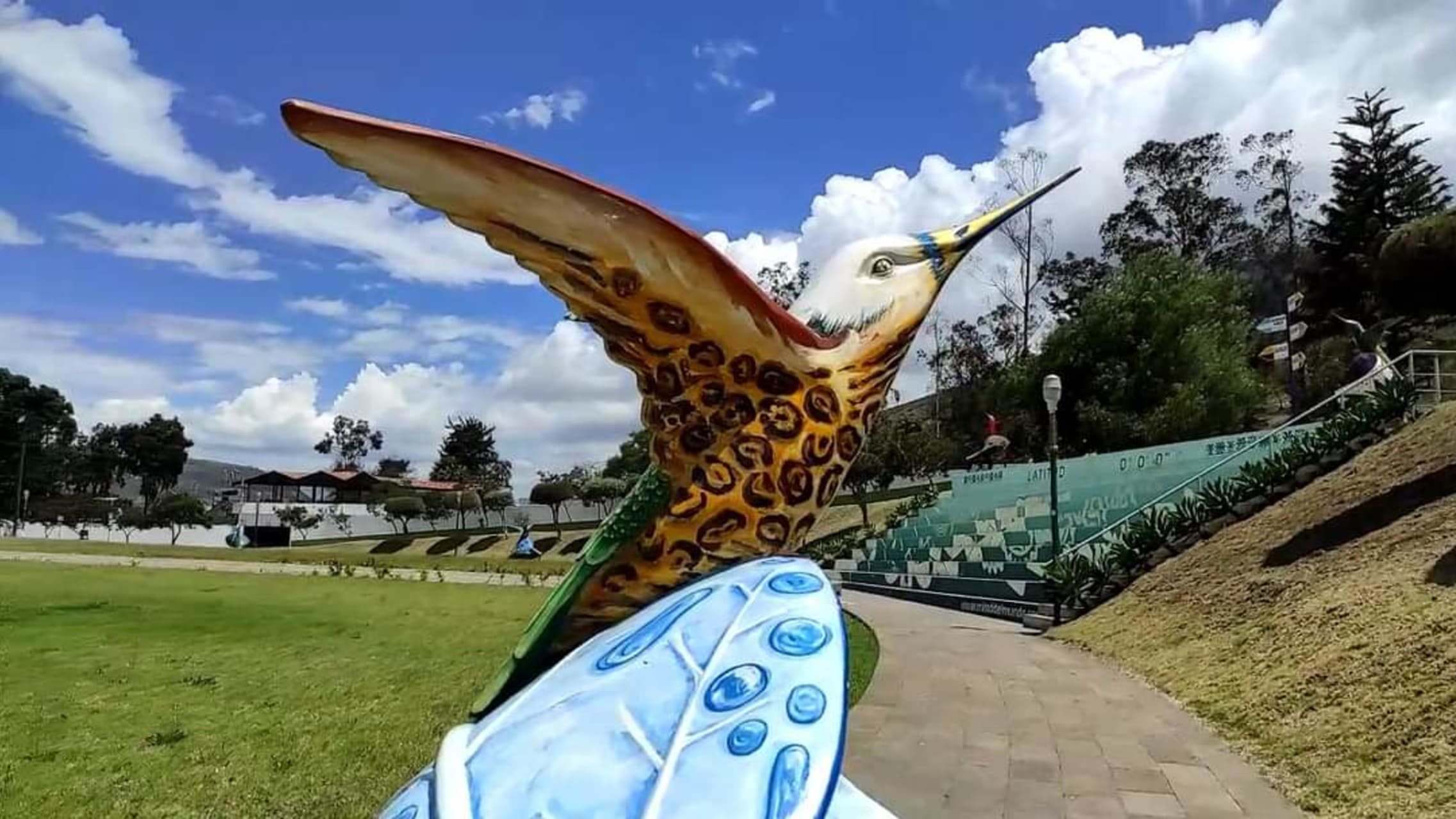 Quito - Hummingbird Sculptures in the Middle of the World