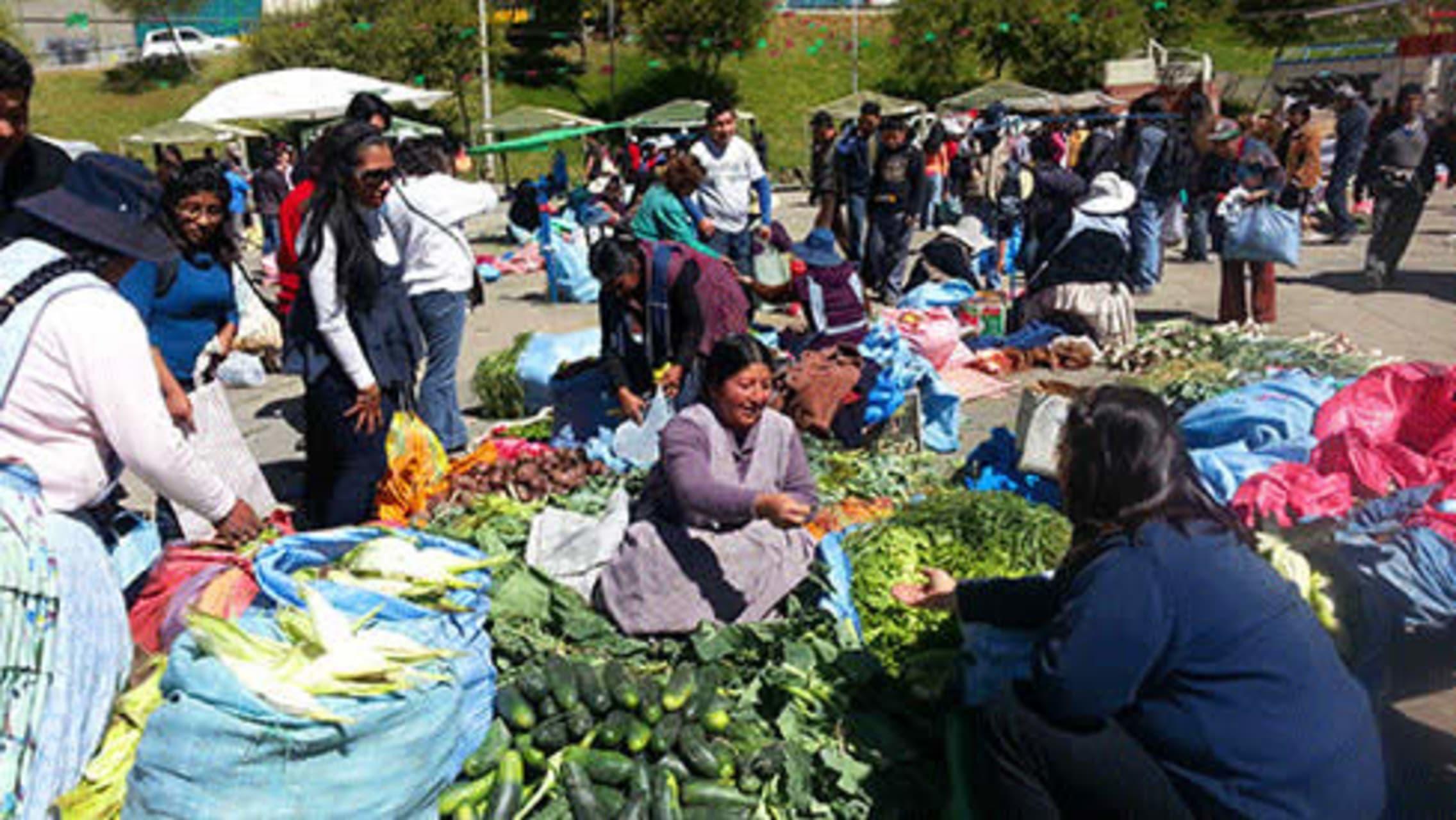 La Paz - Typical Market