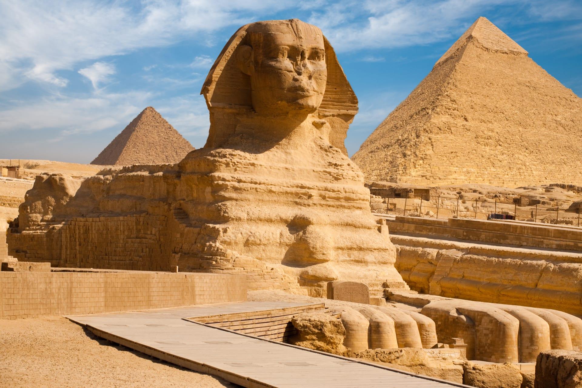 Cairo - Giza Pyramids & The Sphinx