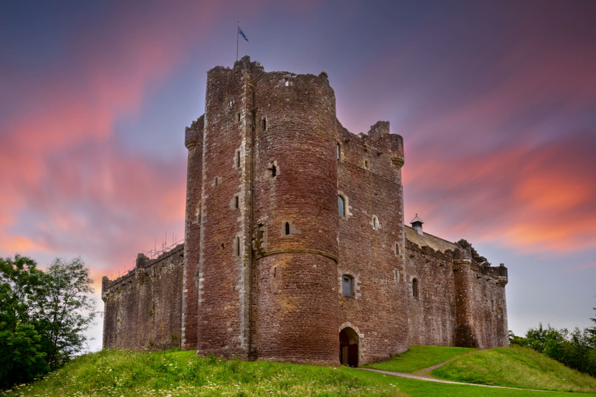 Central Scotland - Doune Castle - home to Scotland's rulers, fictional lairds and coconuts!