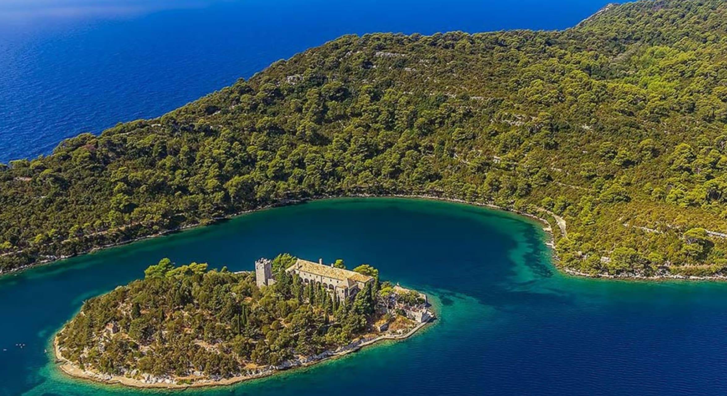 Mljet National Park - National Park of Mljet Boat Ride on Saltwater Lakes