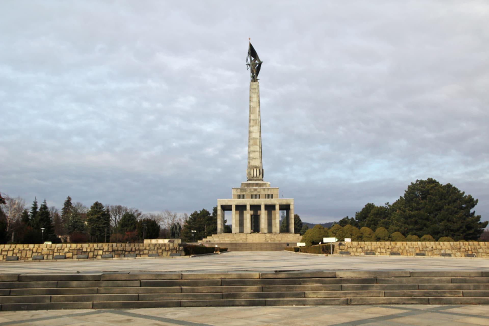 Bratislava - Soviet WWII Memorial and City Views