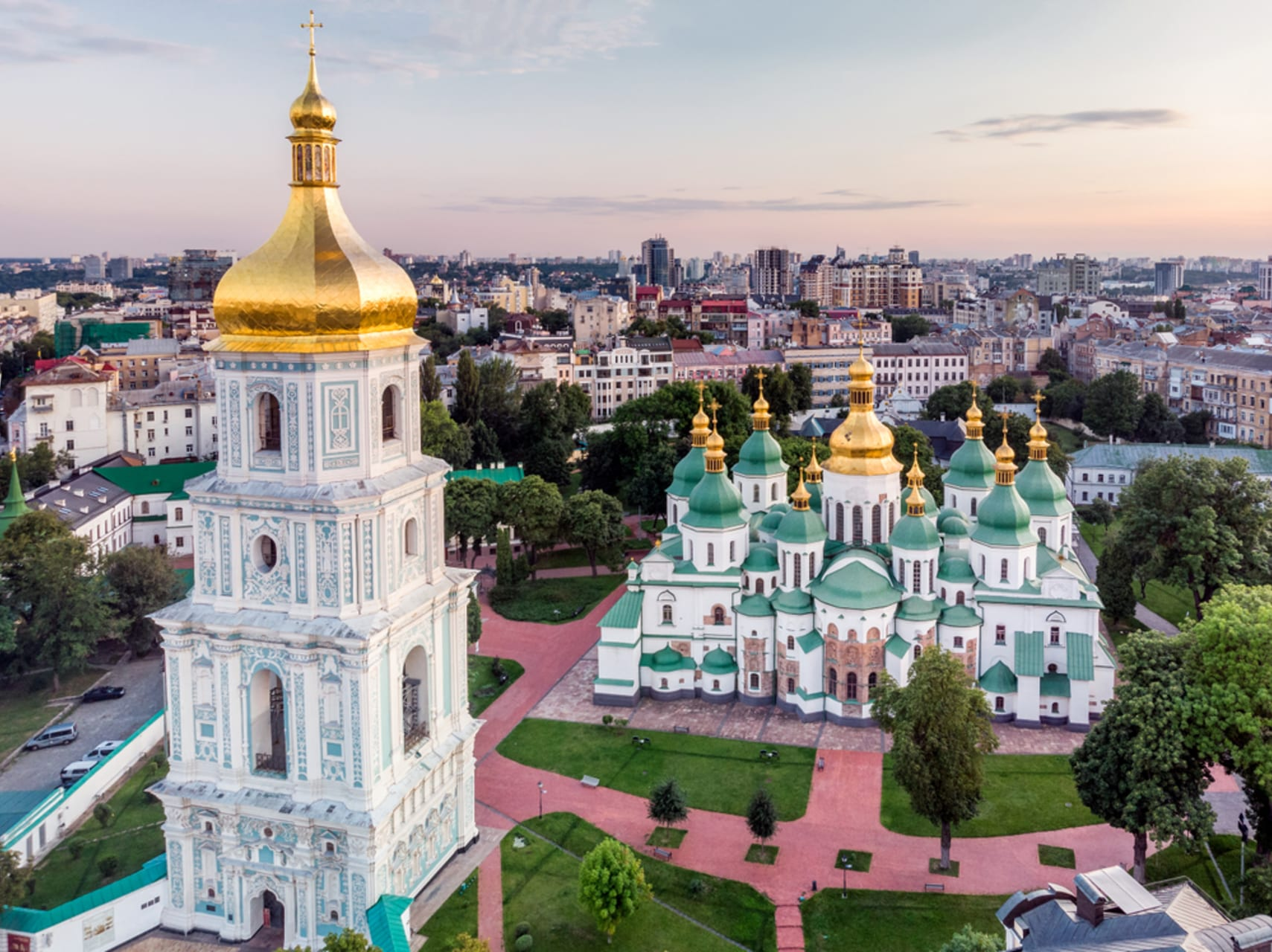 Kyiv - Highlights of Ancient Kyiv. 1000 Years of History Are Hidden here. Golden Gates and St Sophia Cathedral.