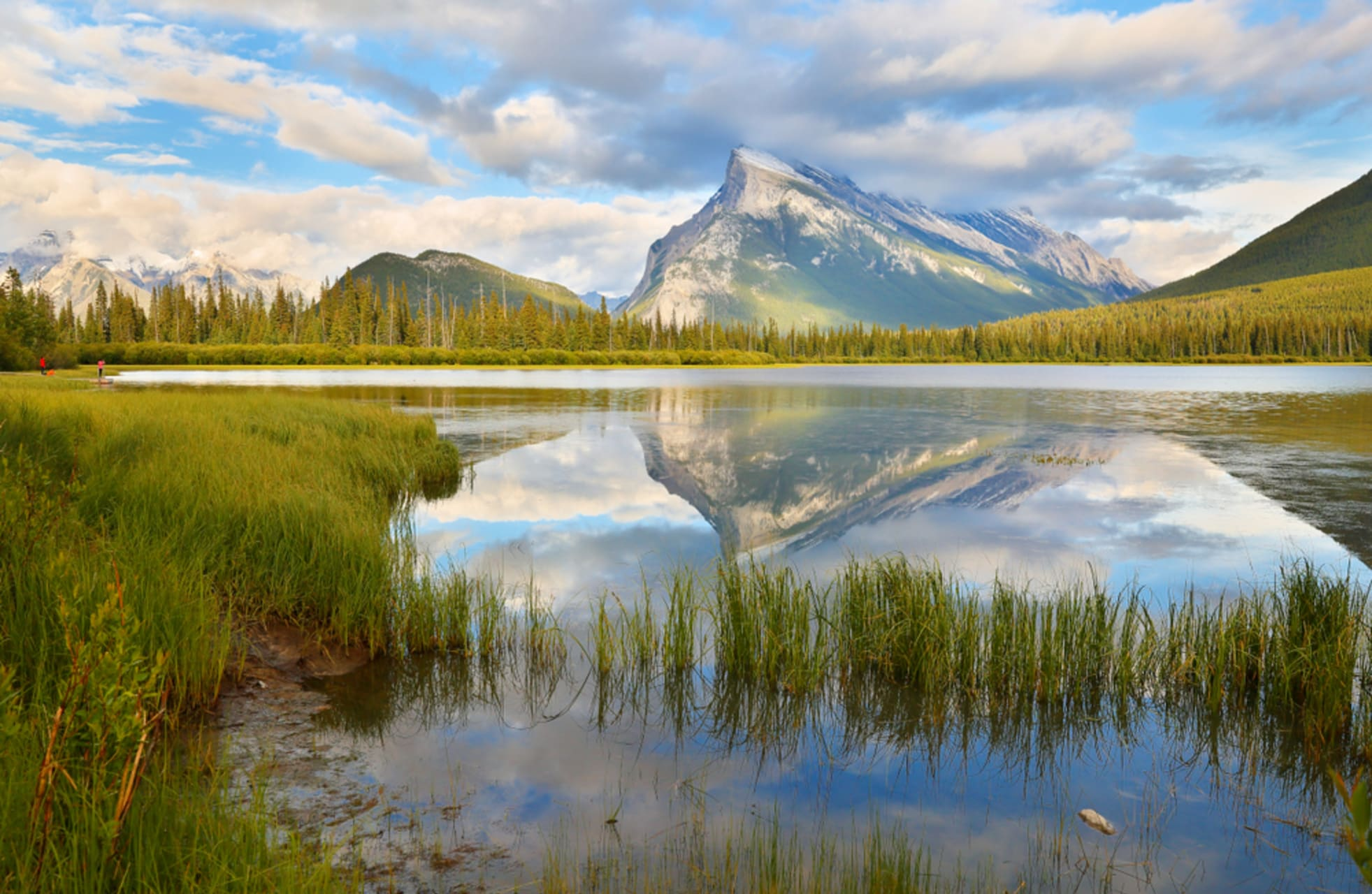 Banff - The spectacular views of Mount Rundle from Vermilion Lakes