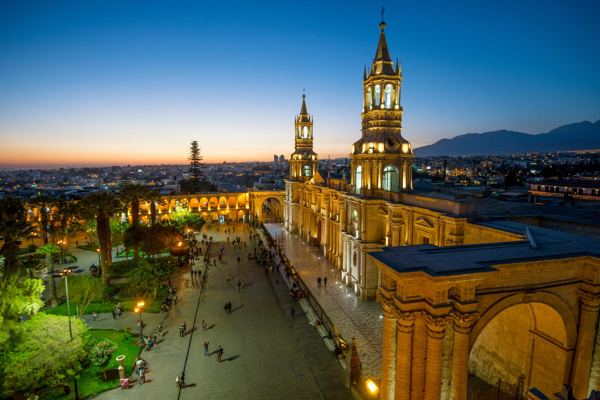 Arequipa - White City in the Evening