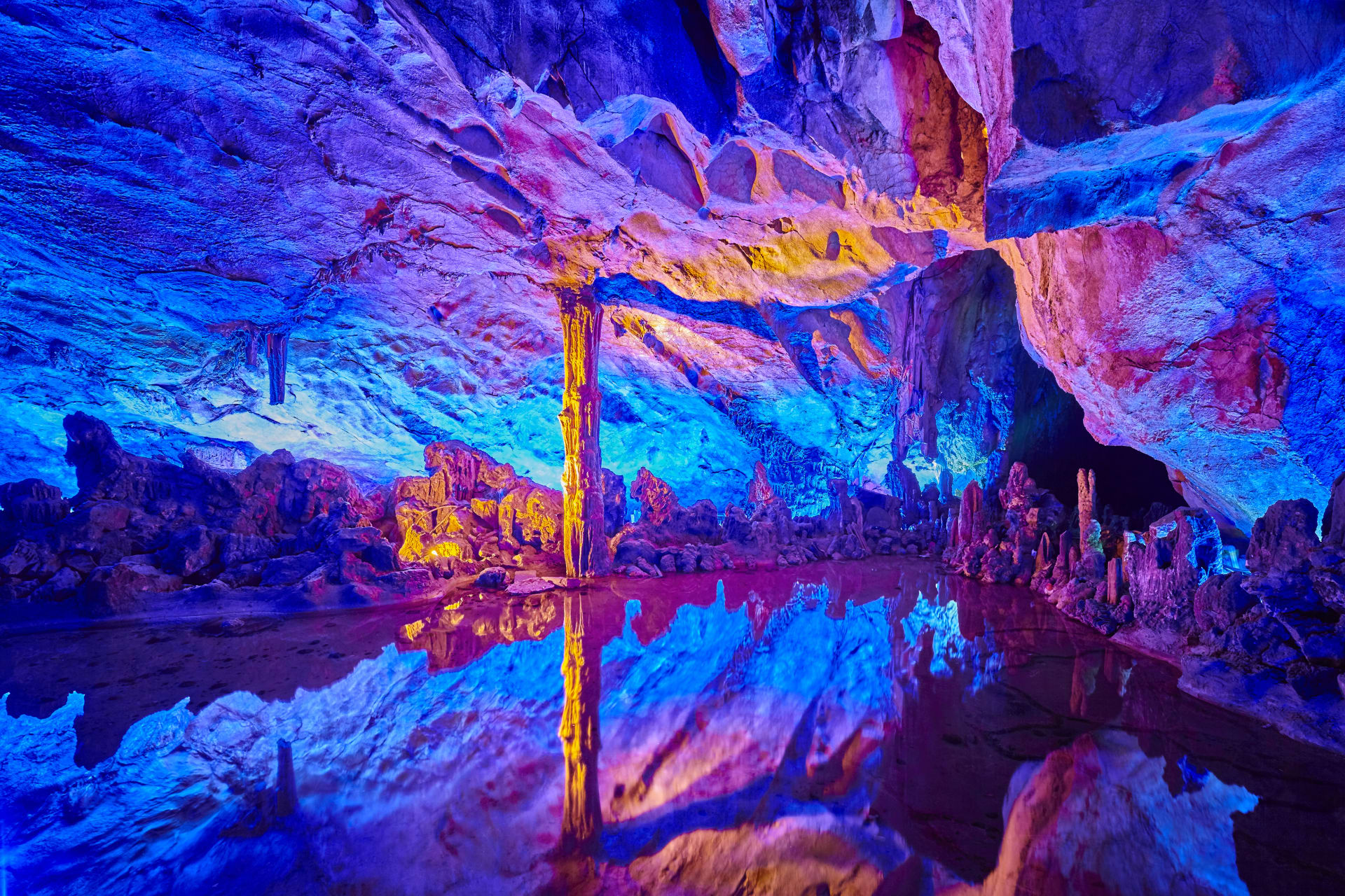 Guilin - Reed Flute Cave-- the Palace of Natural Arts