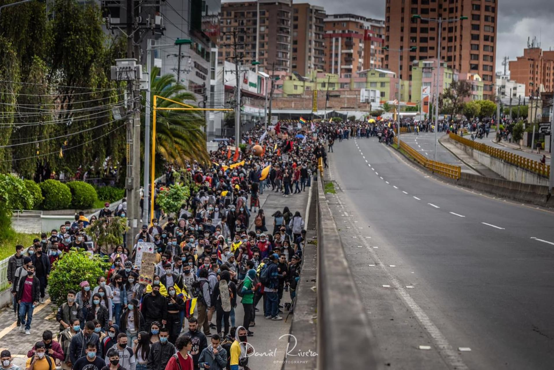 Pasto - Live protest in Colombia against the tax reform.