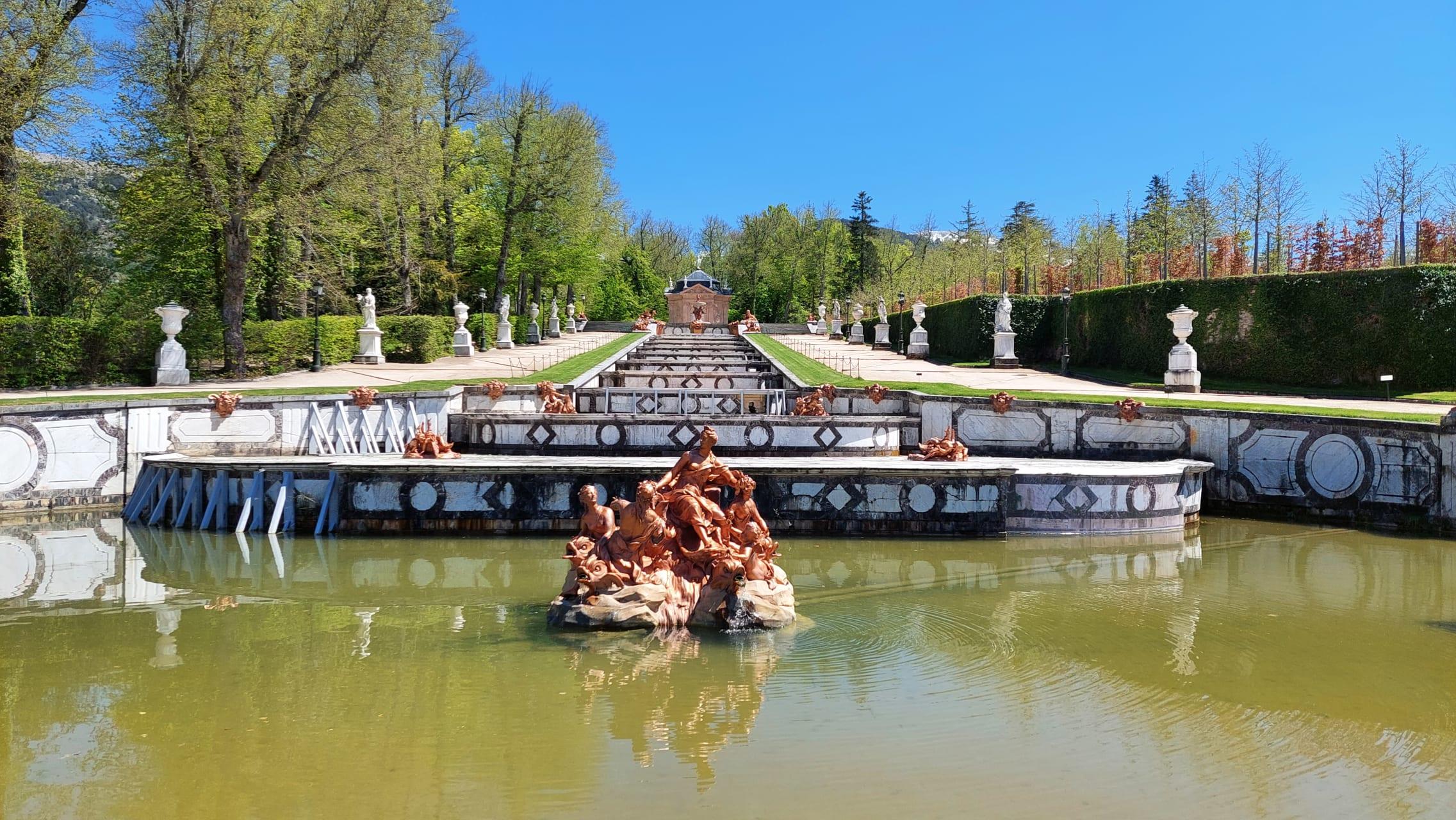 Segovia - The Gardens of La Granja Palace in Segovia