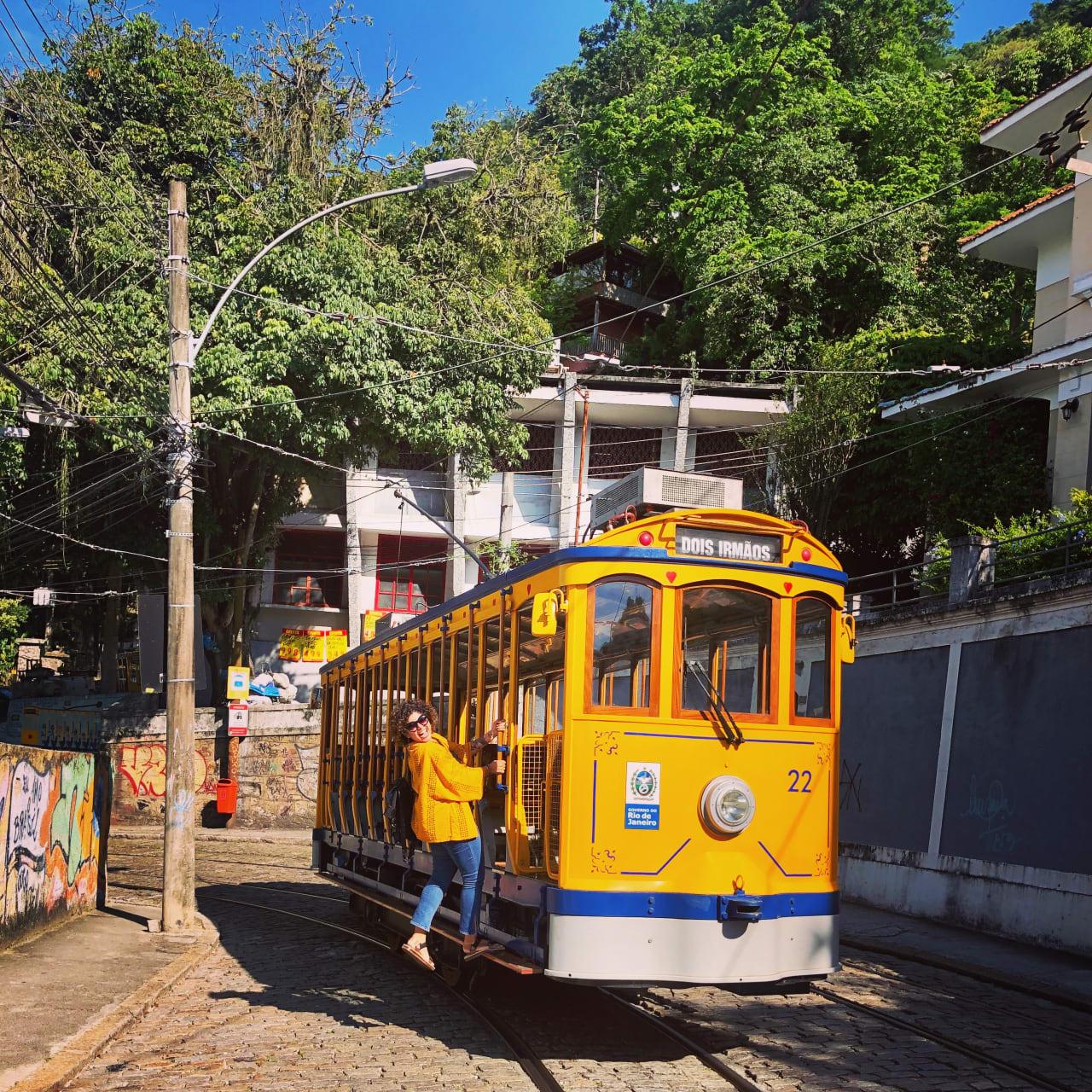 Rio de Janeiro - Ride on a Yellow Tram in Santa Teresa
