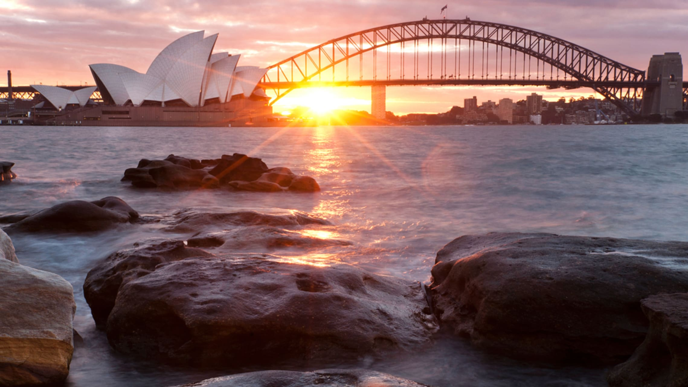 Sydney - Winter Solstice Special: Sunset Over Sydney Harbour