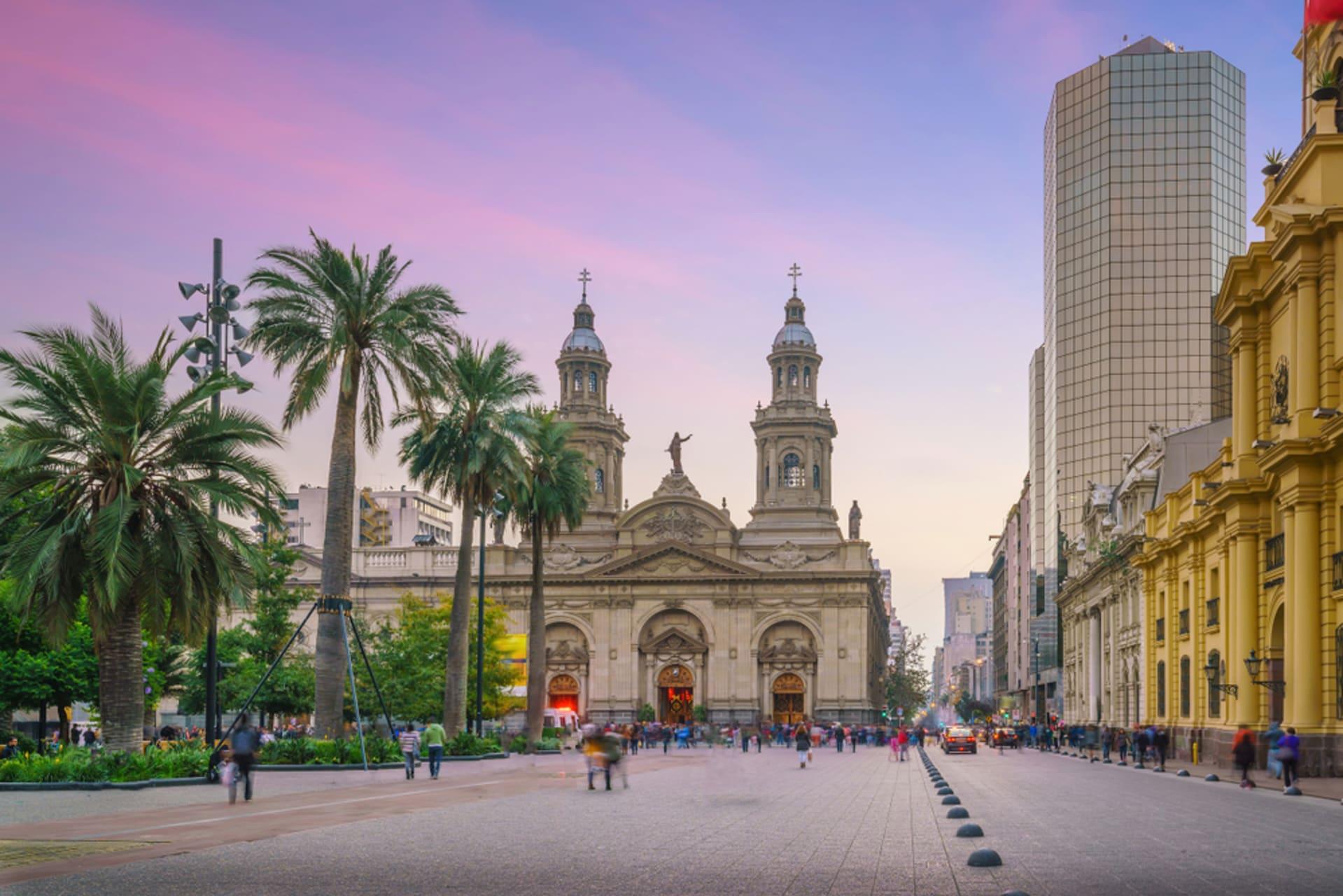 """Santiago - Main square of Santiago """" Plaza de Armas"""""""