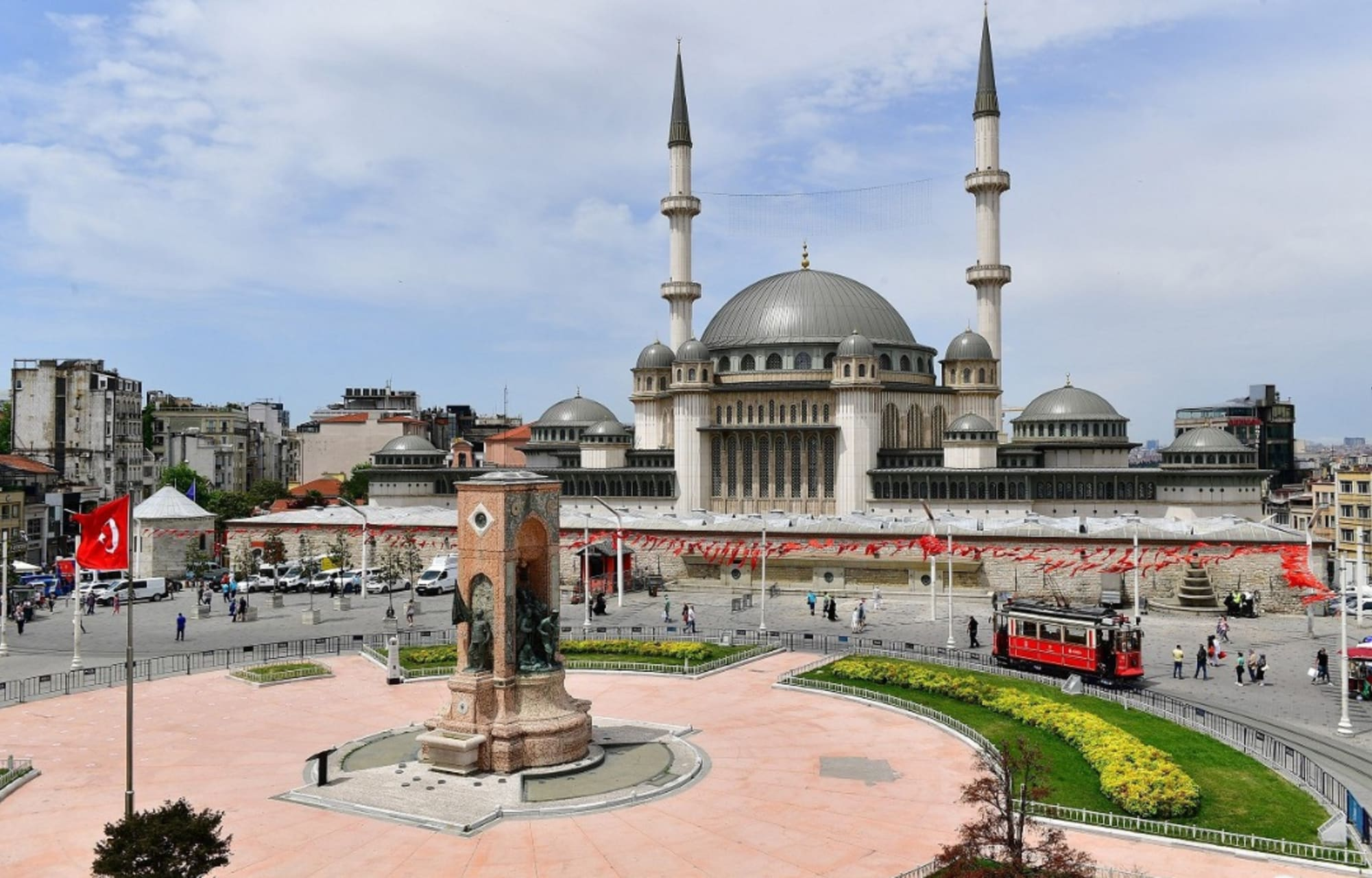 Istanbul - Taksim square, an old place and the center of a modern city