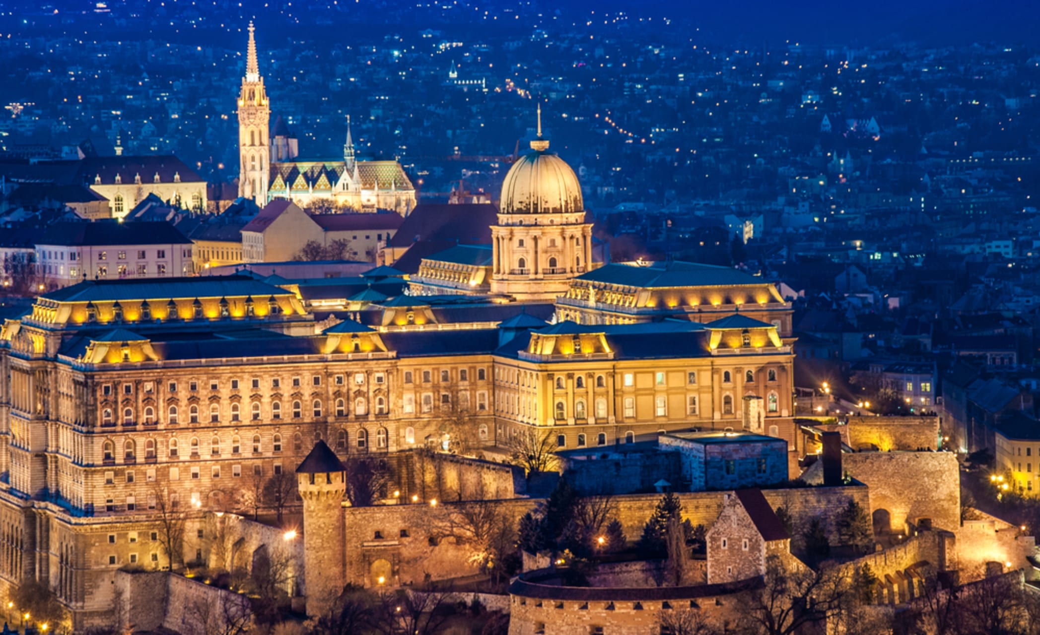 Budapest - Budapest Limited Series: Buda Castle Quarter by Night