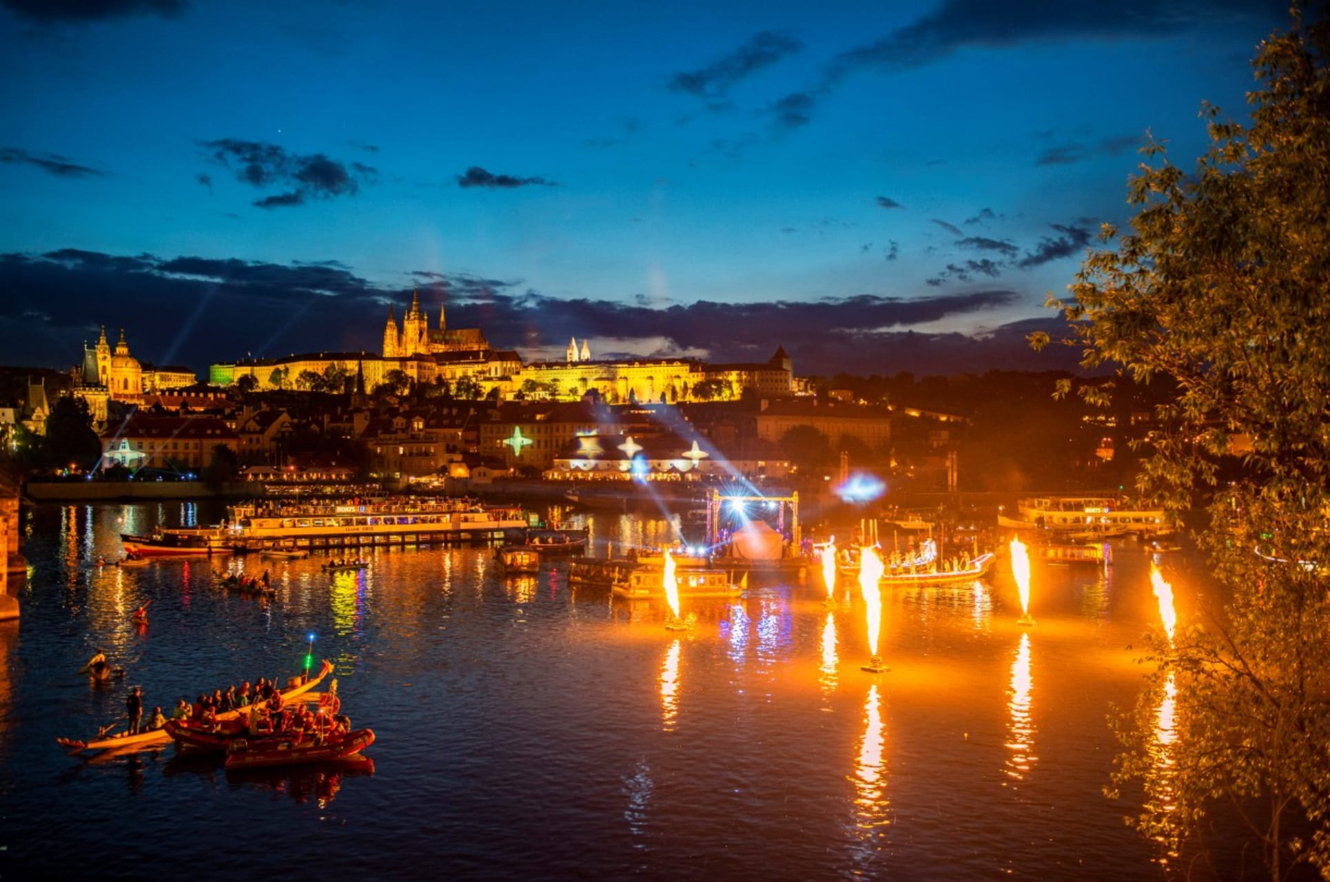 Prague - Once in a Year Event - Stunning Baroque Festival NAVALIS on the Vltava River - Part 2