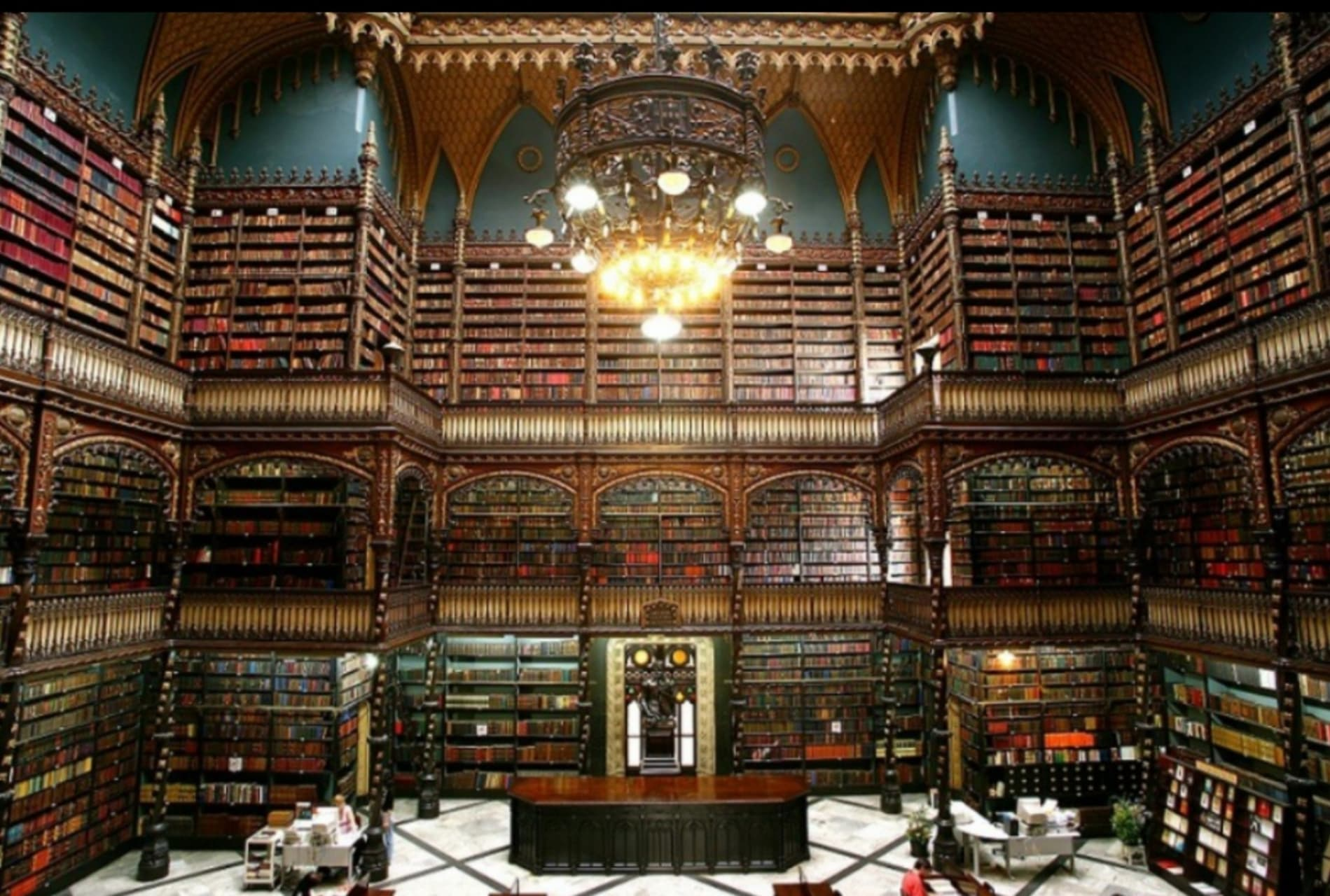 Rio de Janeiro - Royal Portuguese Reading Room: One of the 20th most Beautiful Libraries in the World