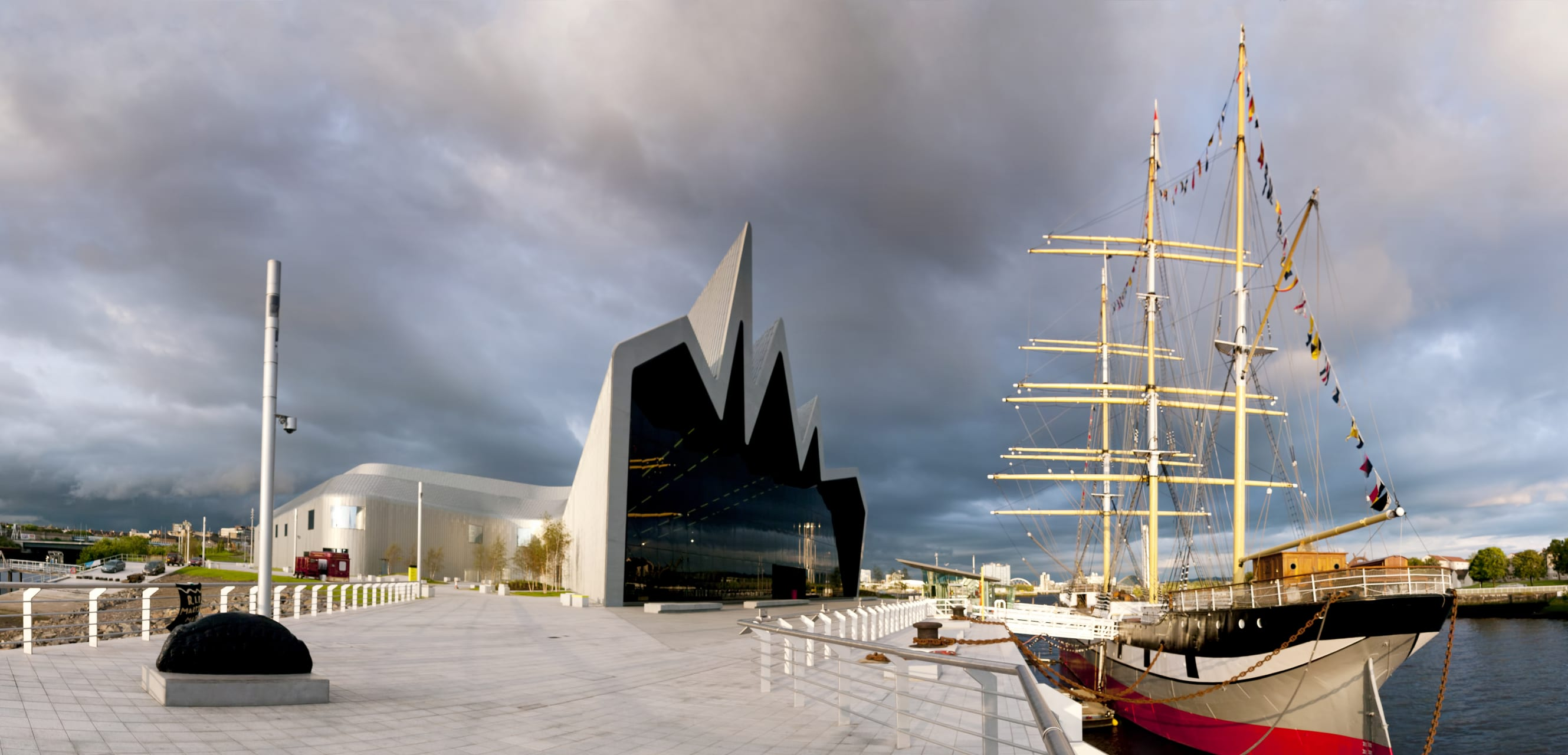 Glasgow - The Riverside Museum and the Tall Ship Glenlee
