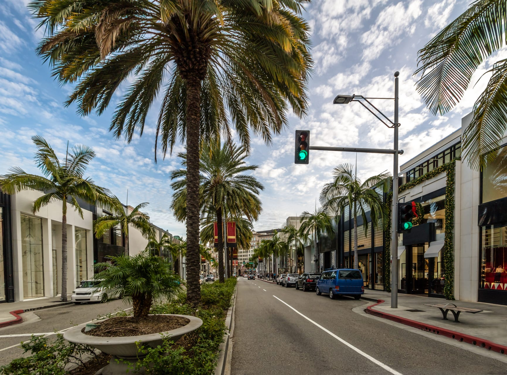Los Angeles - Glitter and Glamour on Rodeo Drive Beverly Hills.