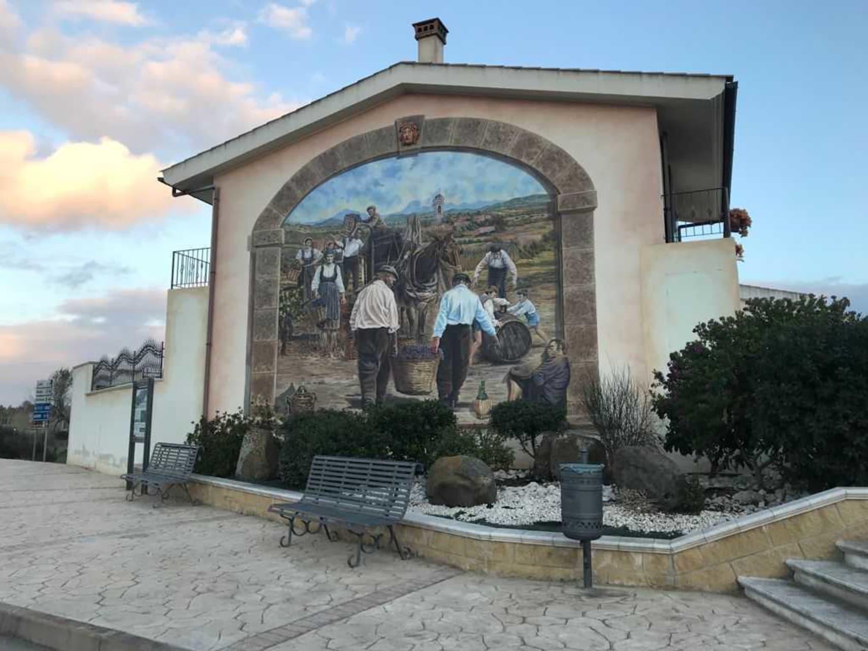 Sardinia - Discovering the Art of Tromple l'Oeil Murals in San Nicolò d'Arcidano