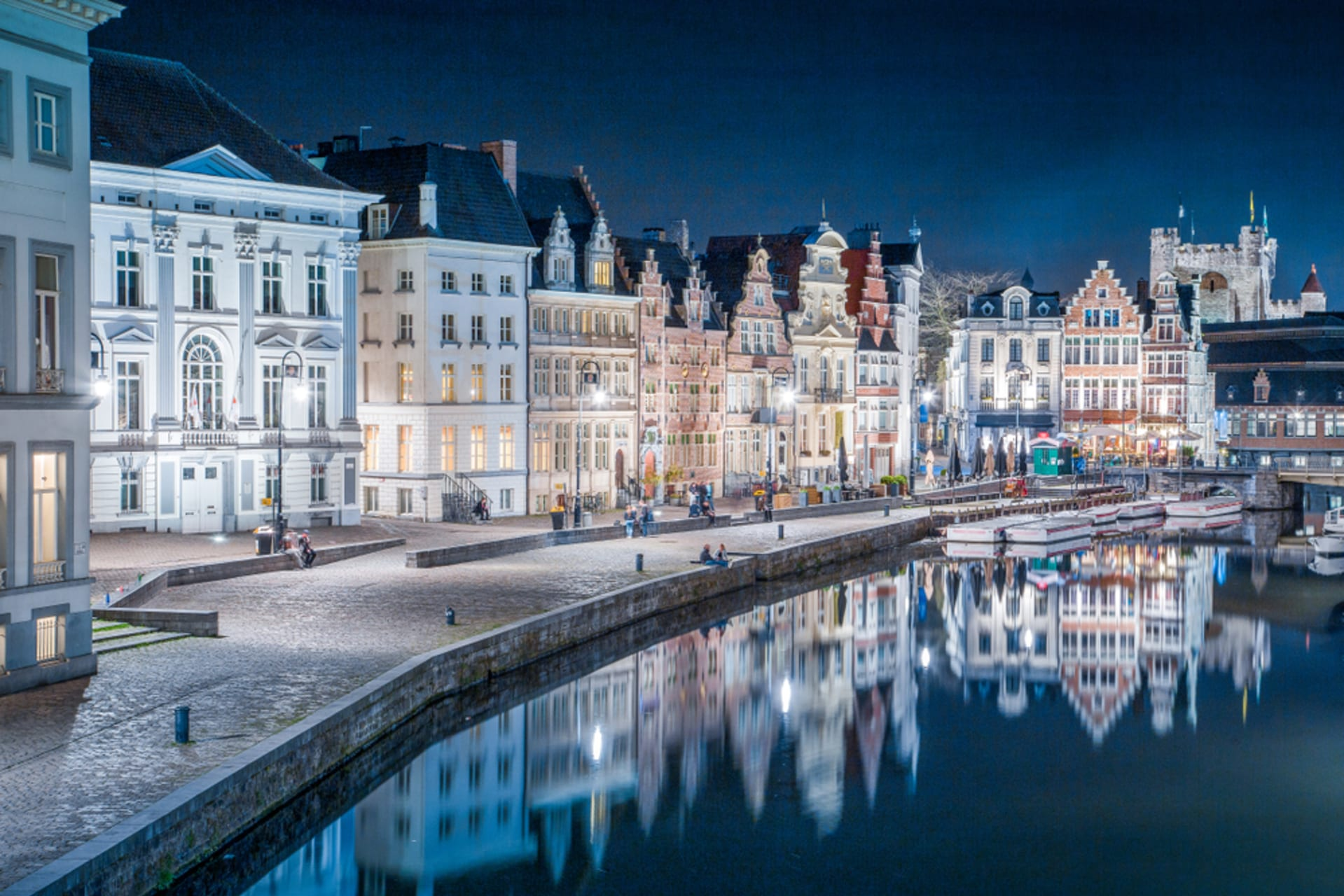 Ghent - Glorious Ghent By Moonlight