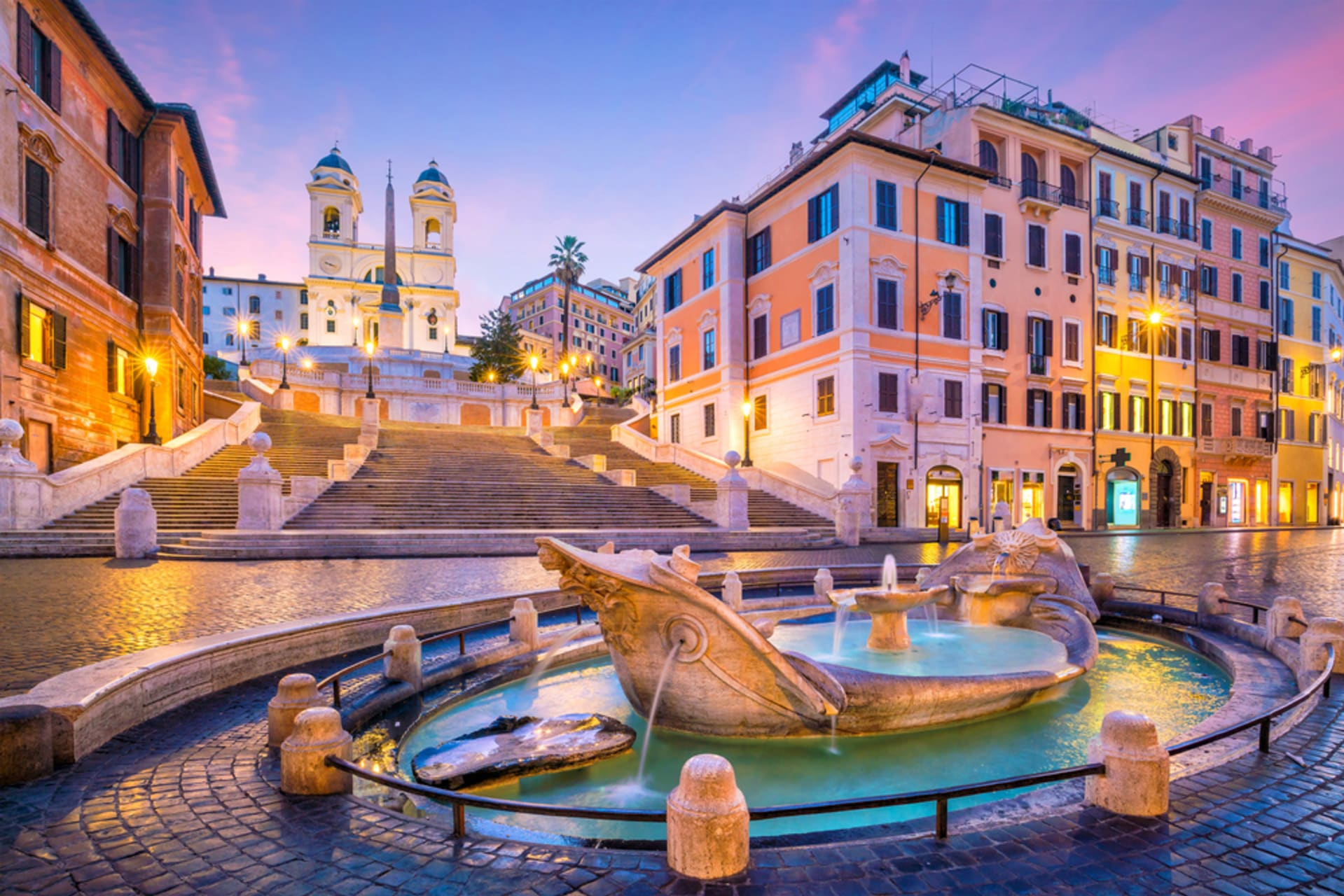 Rome - Spanish Steps and the Italian Fashion Designers Street