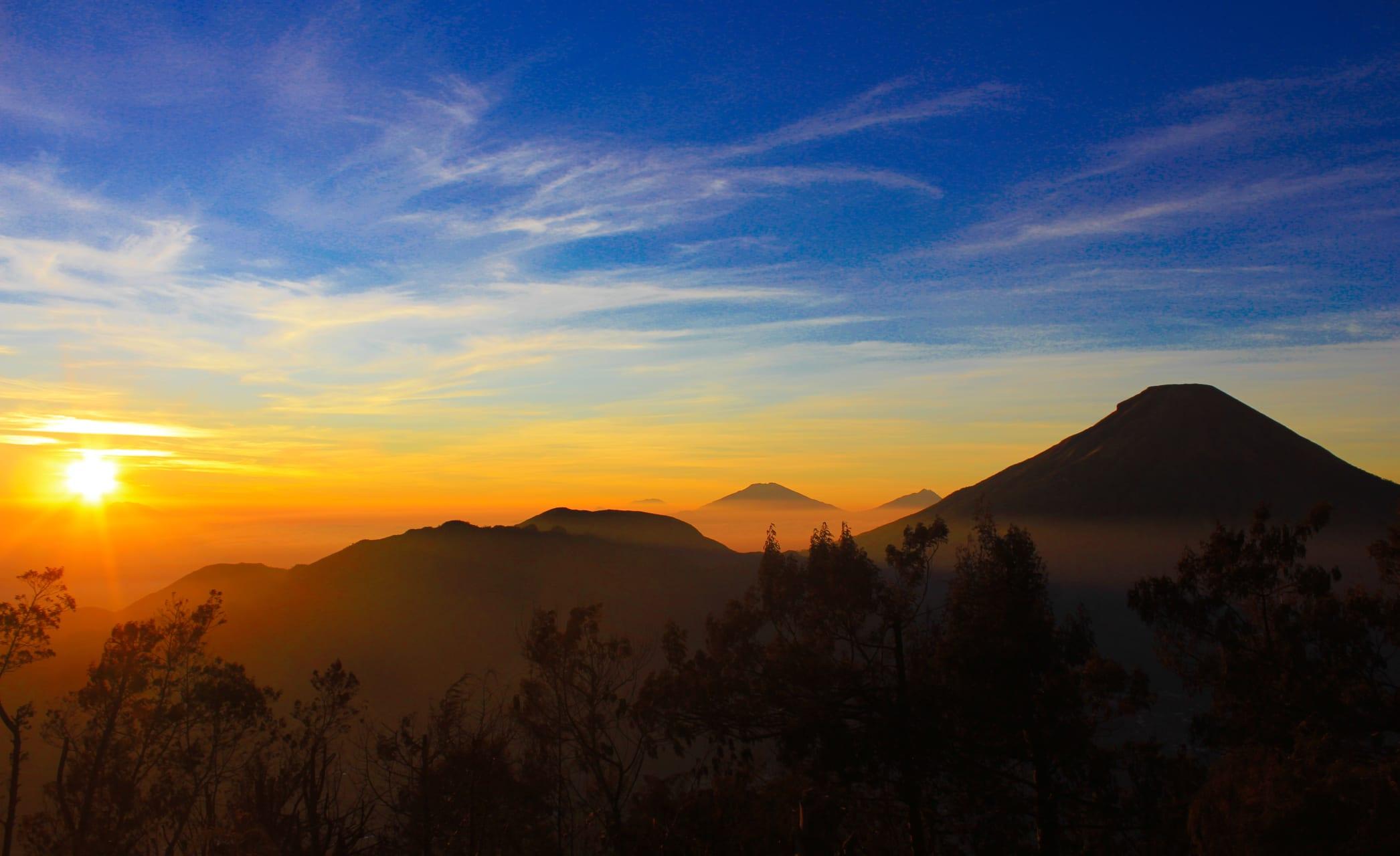 Wonosobo - The Magnificent Golden Sunrise on Sikunir Hill