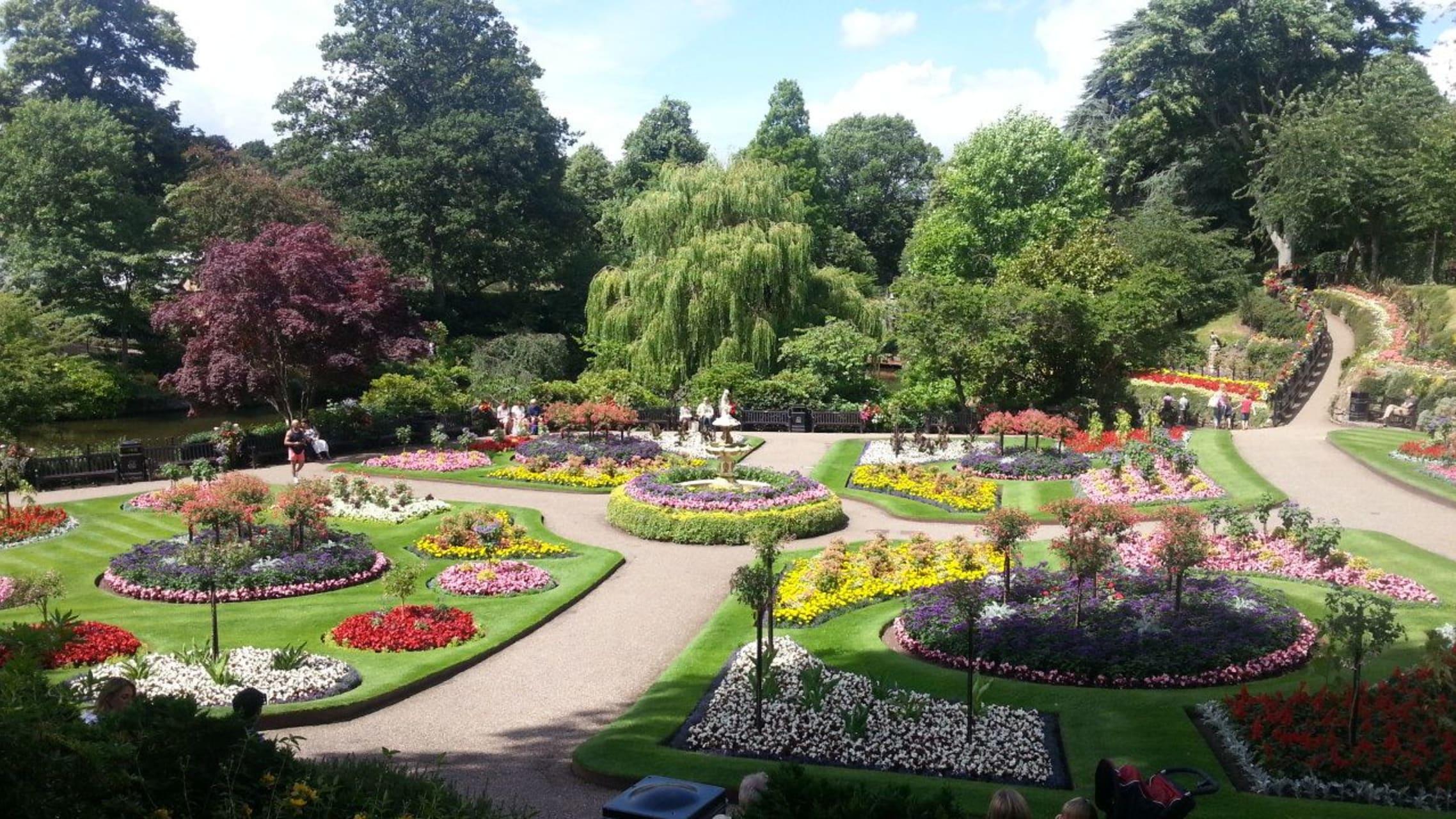 Shropshire - Shrewsbury - Riverside, Parks and Gardens