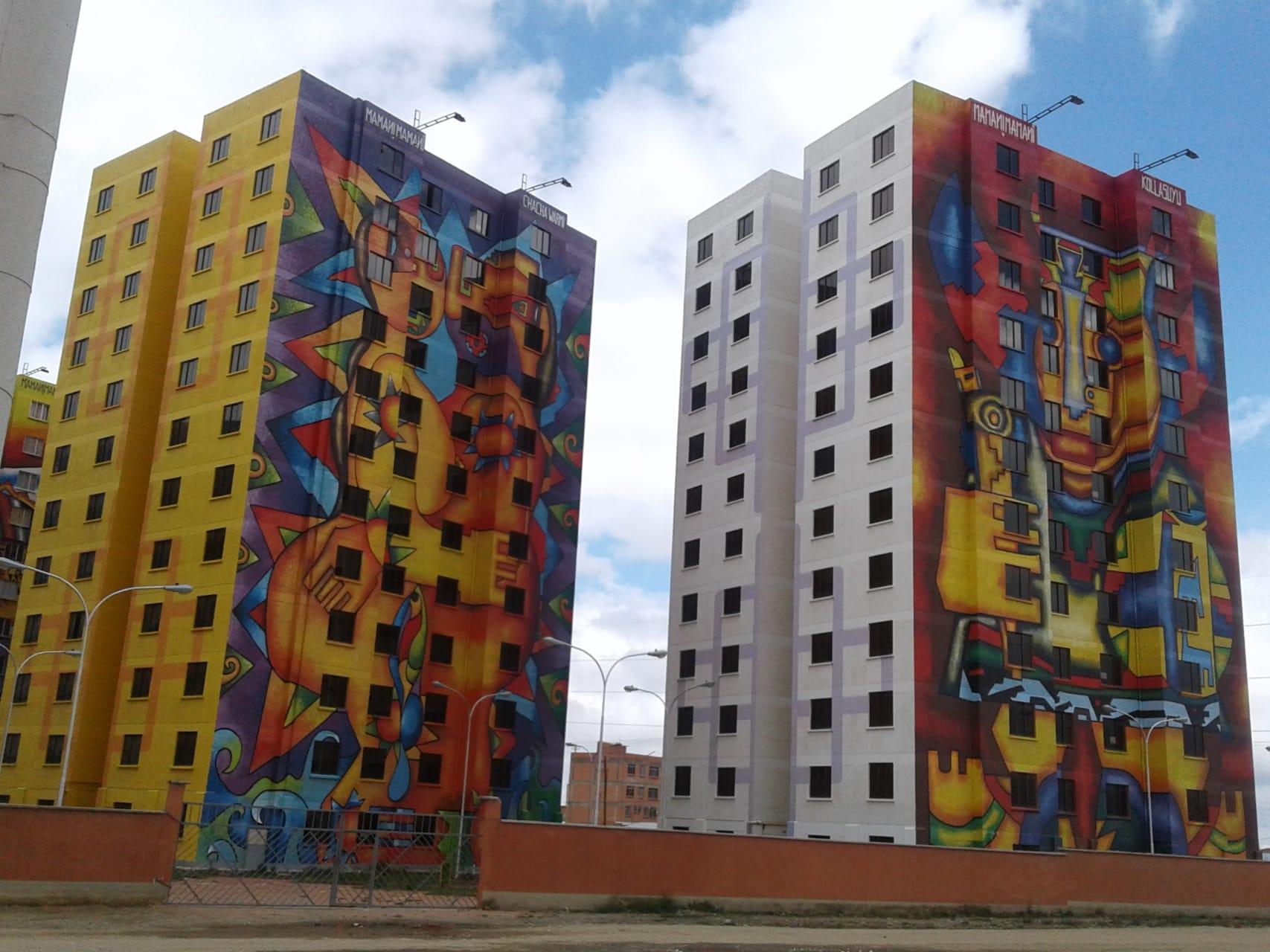 La Paz - CITY OF EL ALTO, Architecture (Cholets), Murals, Churches