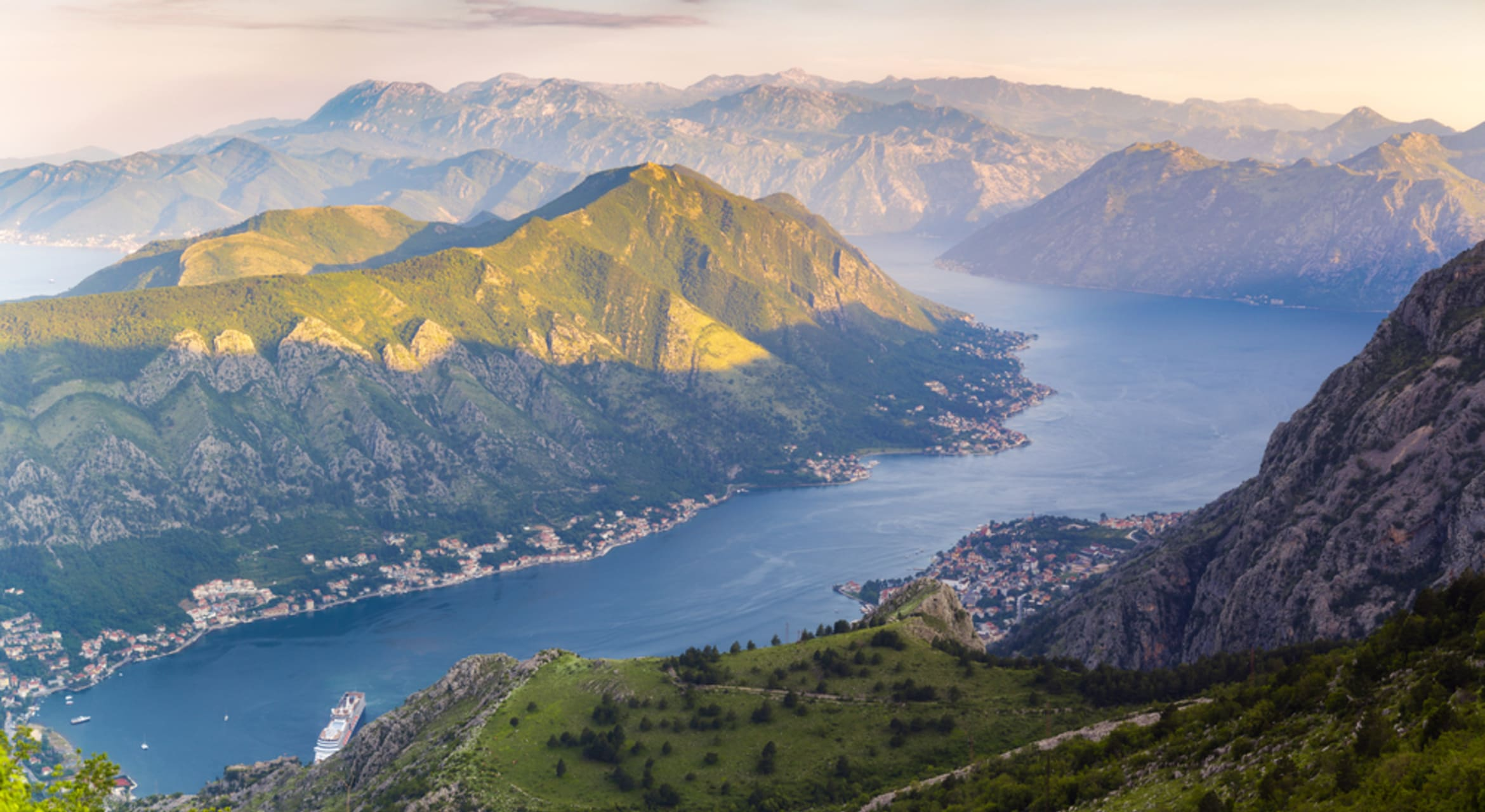 Kotor - Sunrise Above the Bay of Kotor