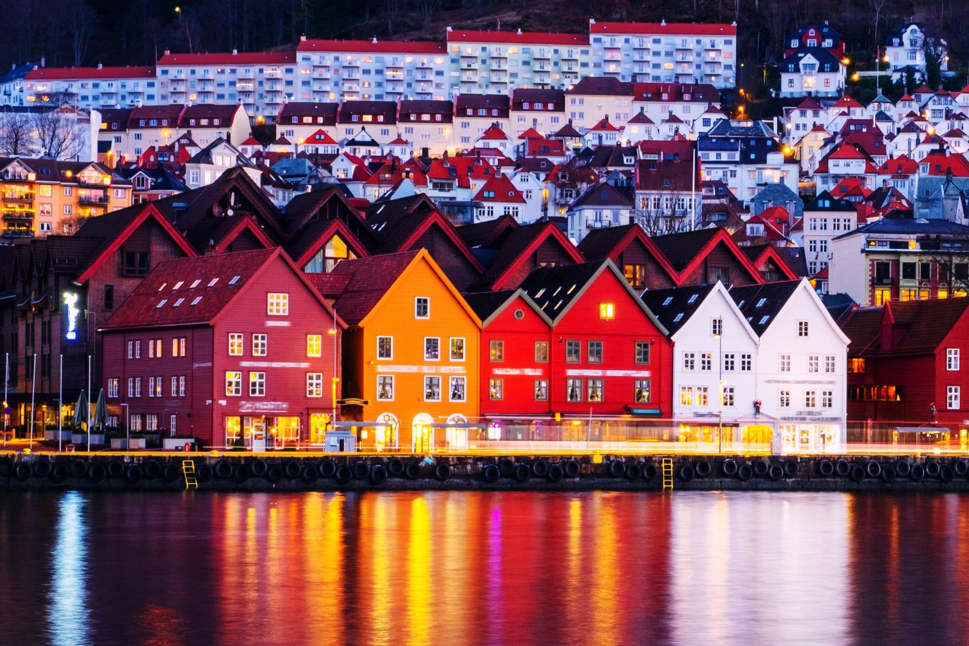 Bergen - A Night-time Wander Through Bergen City Centre