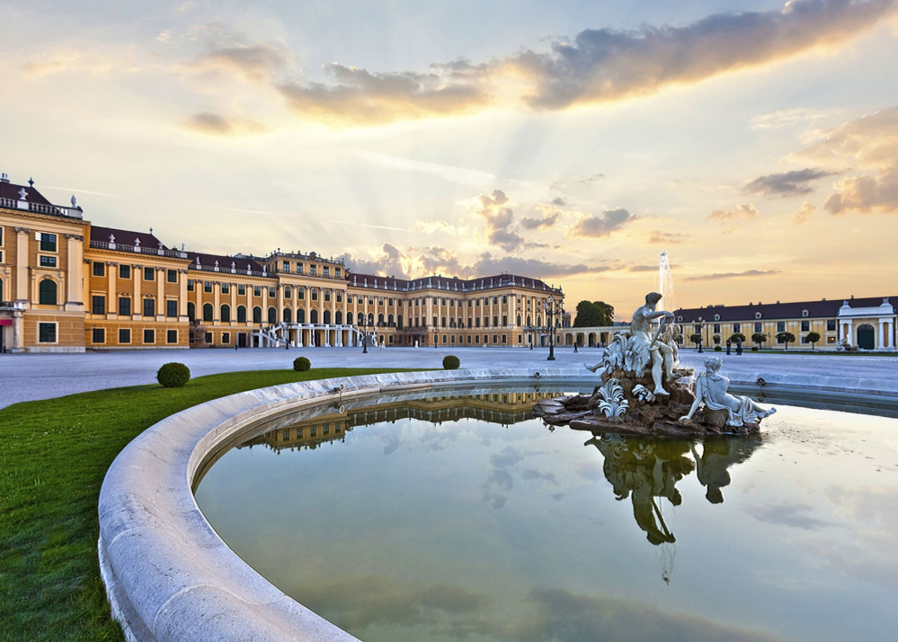 Vienna - The magnificent park of Schönbrunn Palace: where Marie Antoinette ate cake as a child