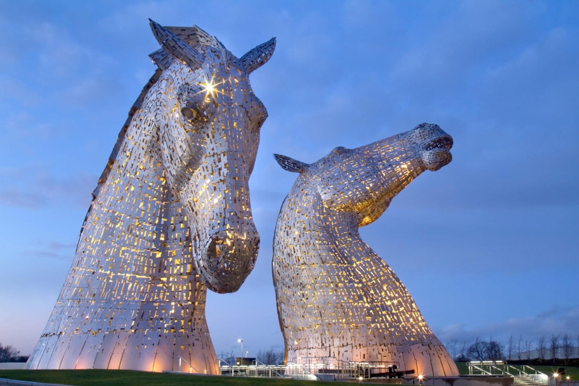 Central Scotland - Meet the Kelpies - the world's largest Equine sculptures