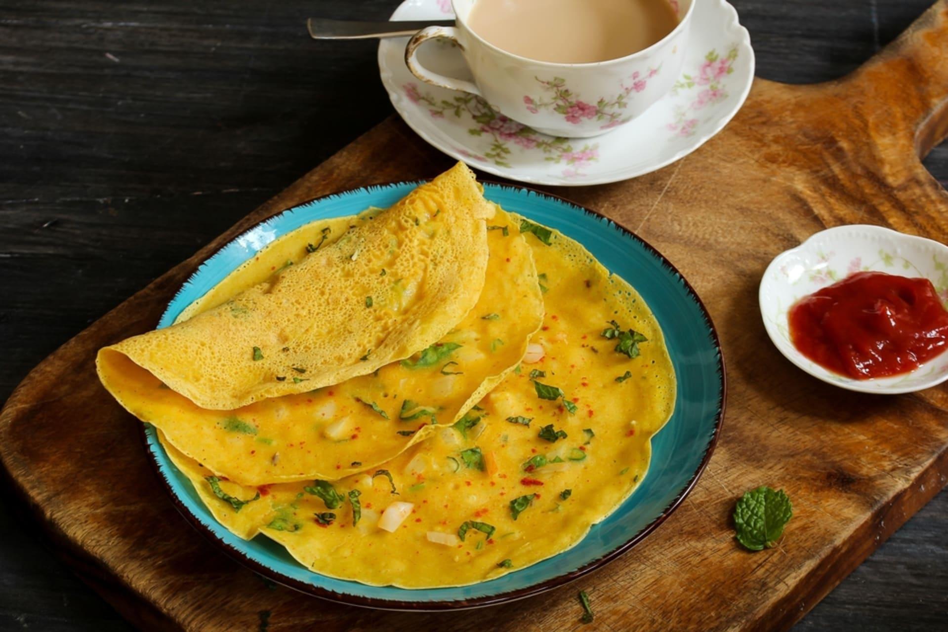 Jaipur - The Indian pancake (Besan Chilla)