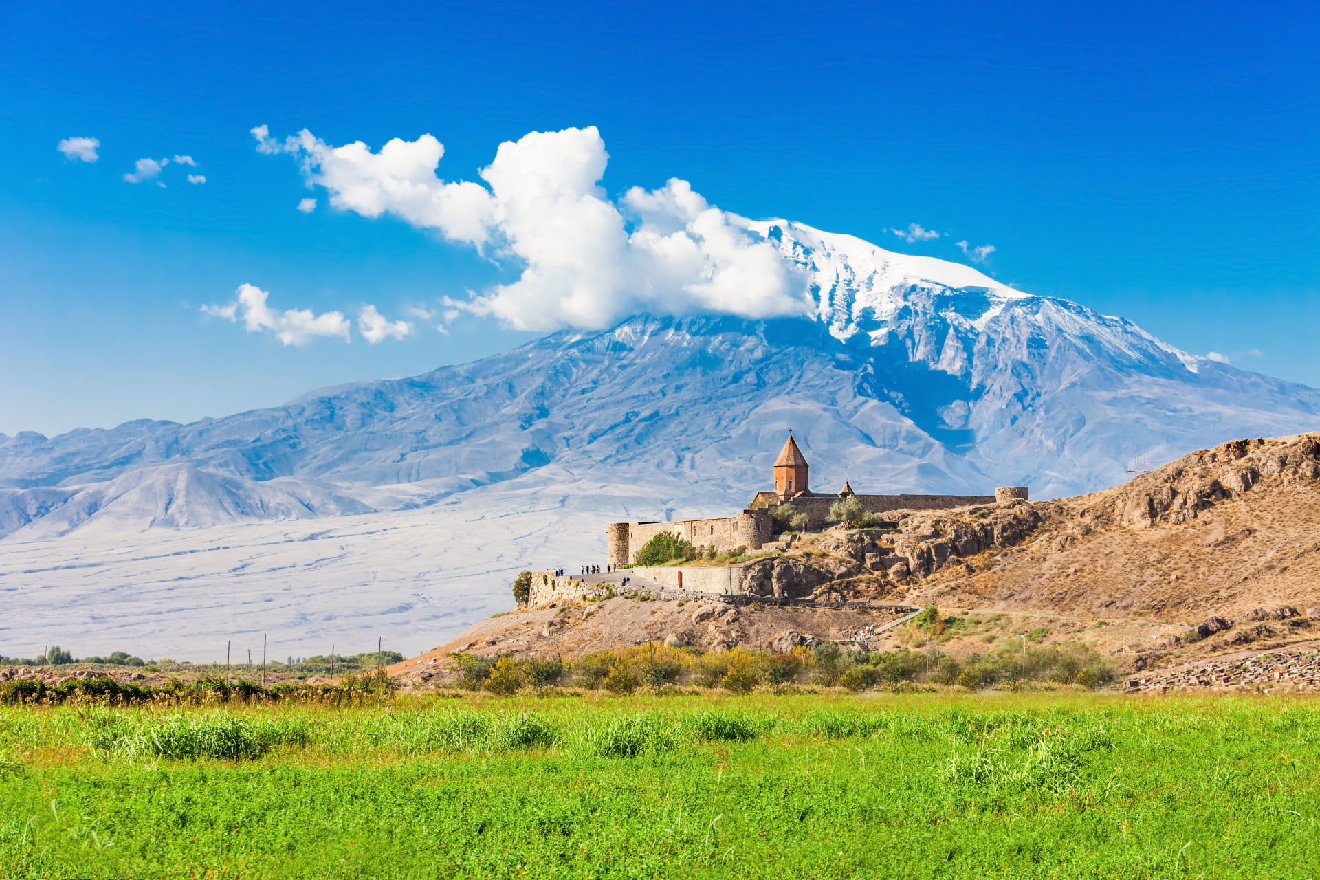 Yerevan - Khor Virap: A Monastery Complex with the Biblical Mountain in the Background