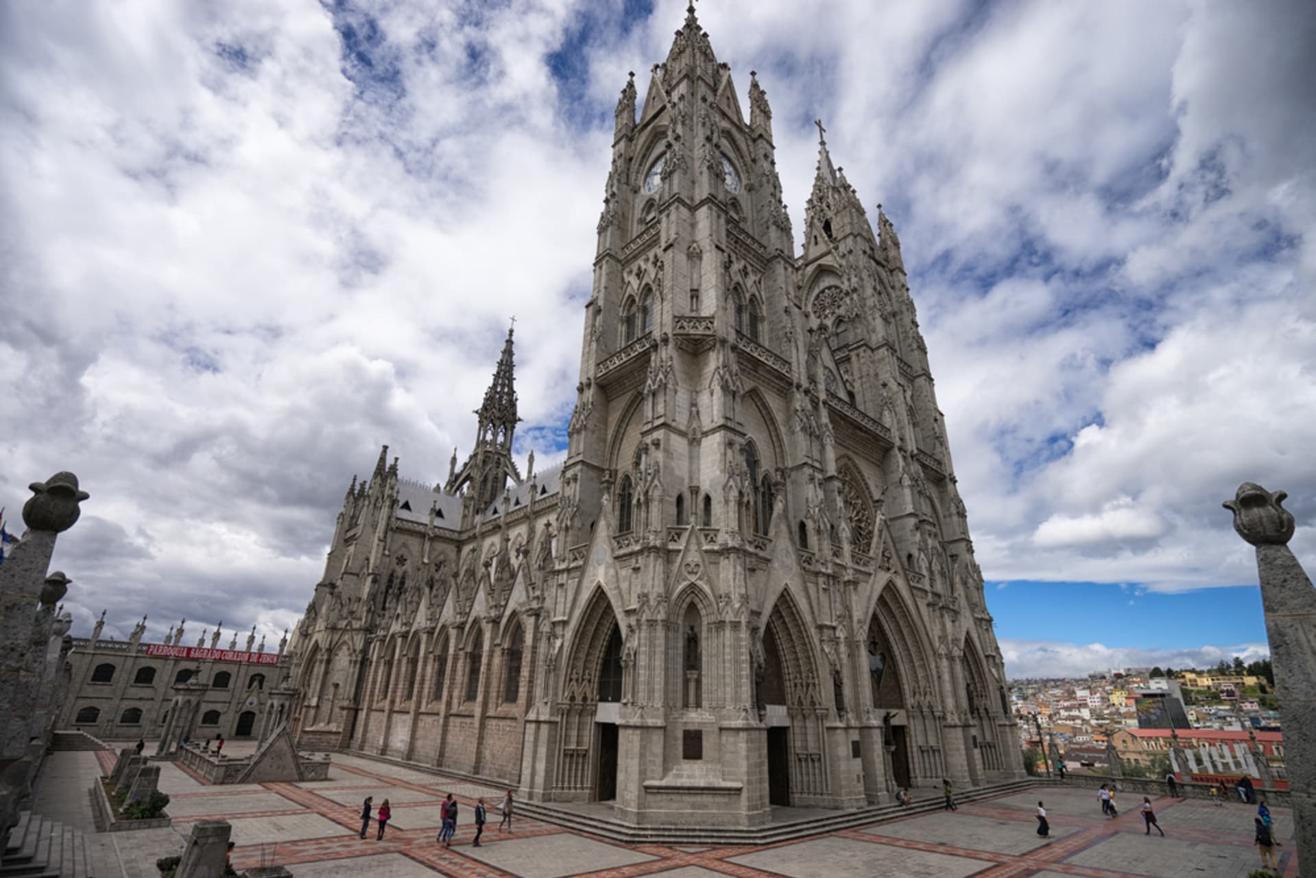 Quito - Church of The End of the World and Zoomorphic Figures