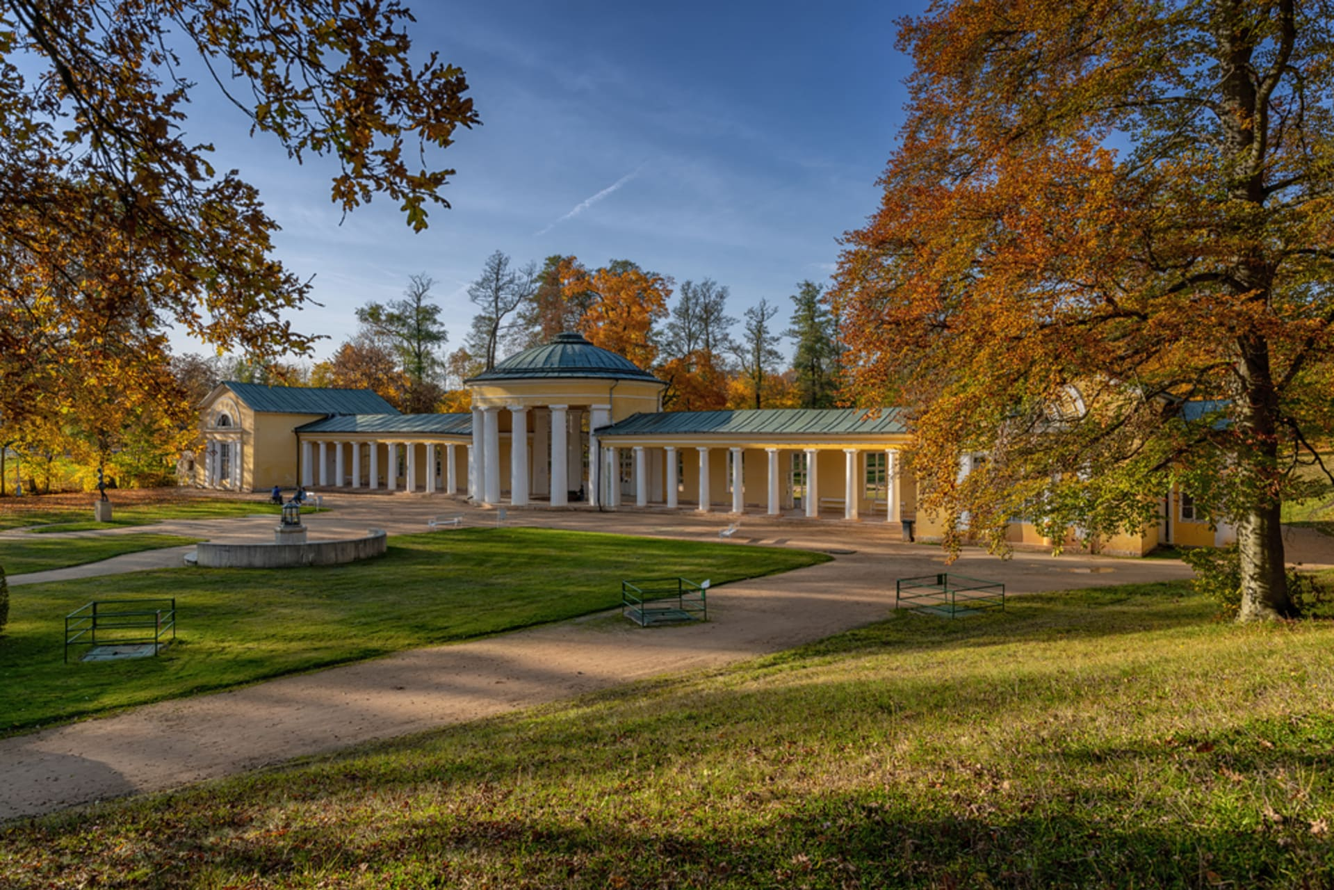 Marianske Lazne -  Marienbad , spa in the middle of the woods