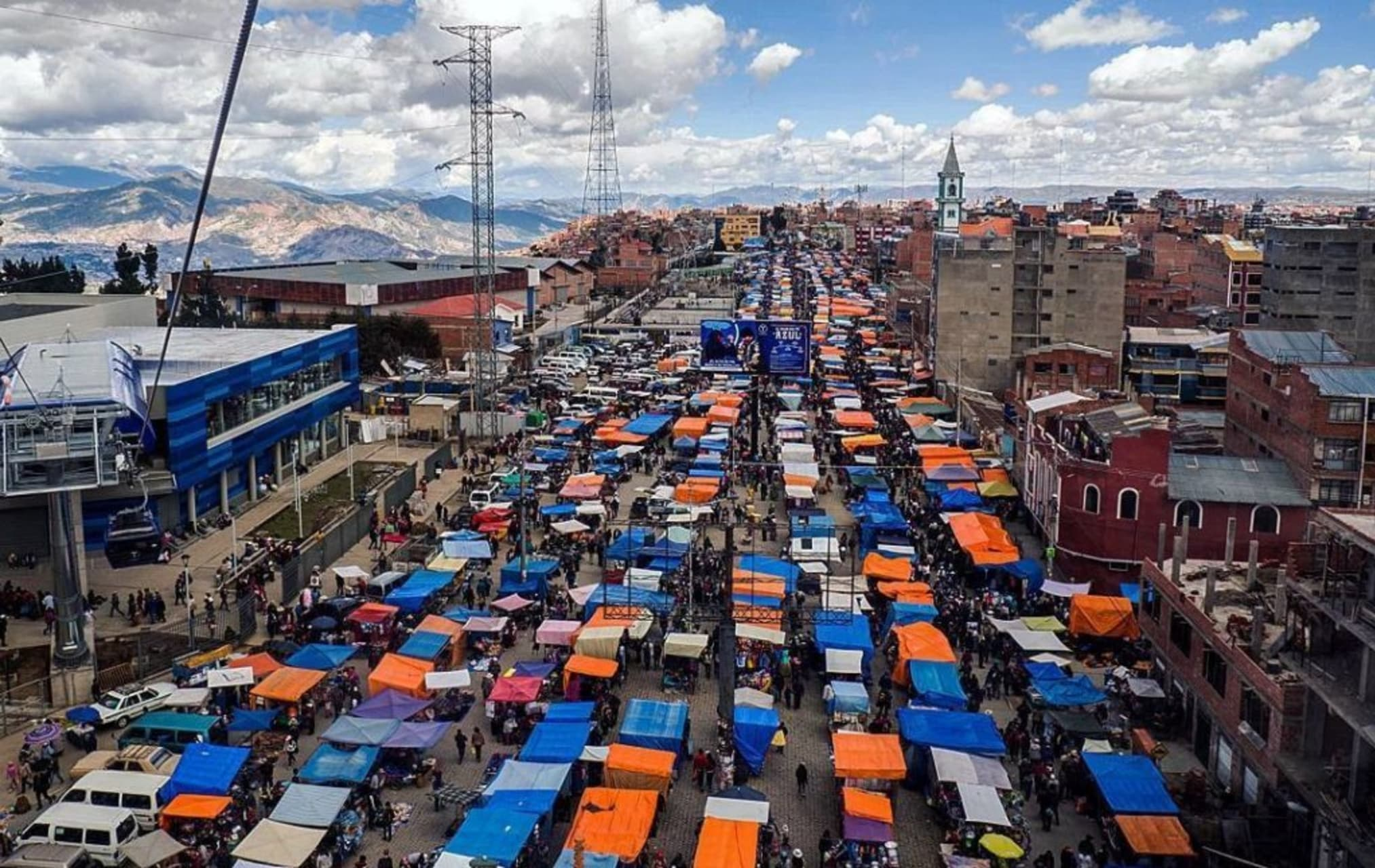 La Paz - Panoramic View of the Largest Flea Market in South America