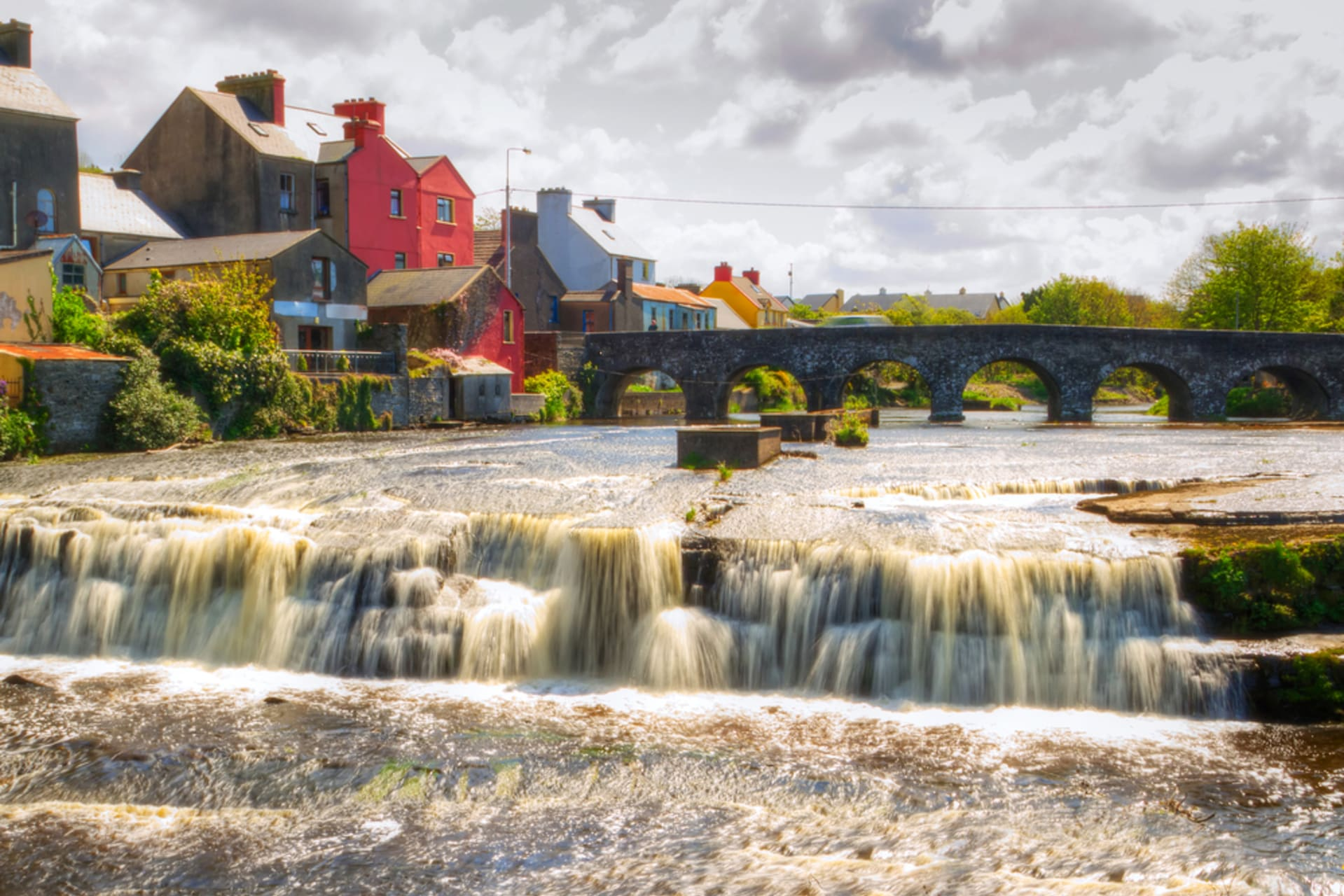 West of Ireland - Ennistymon, the Cascades and Location of the Father Ted TV Series