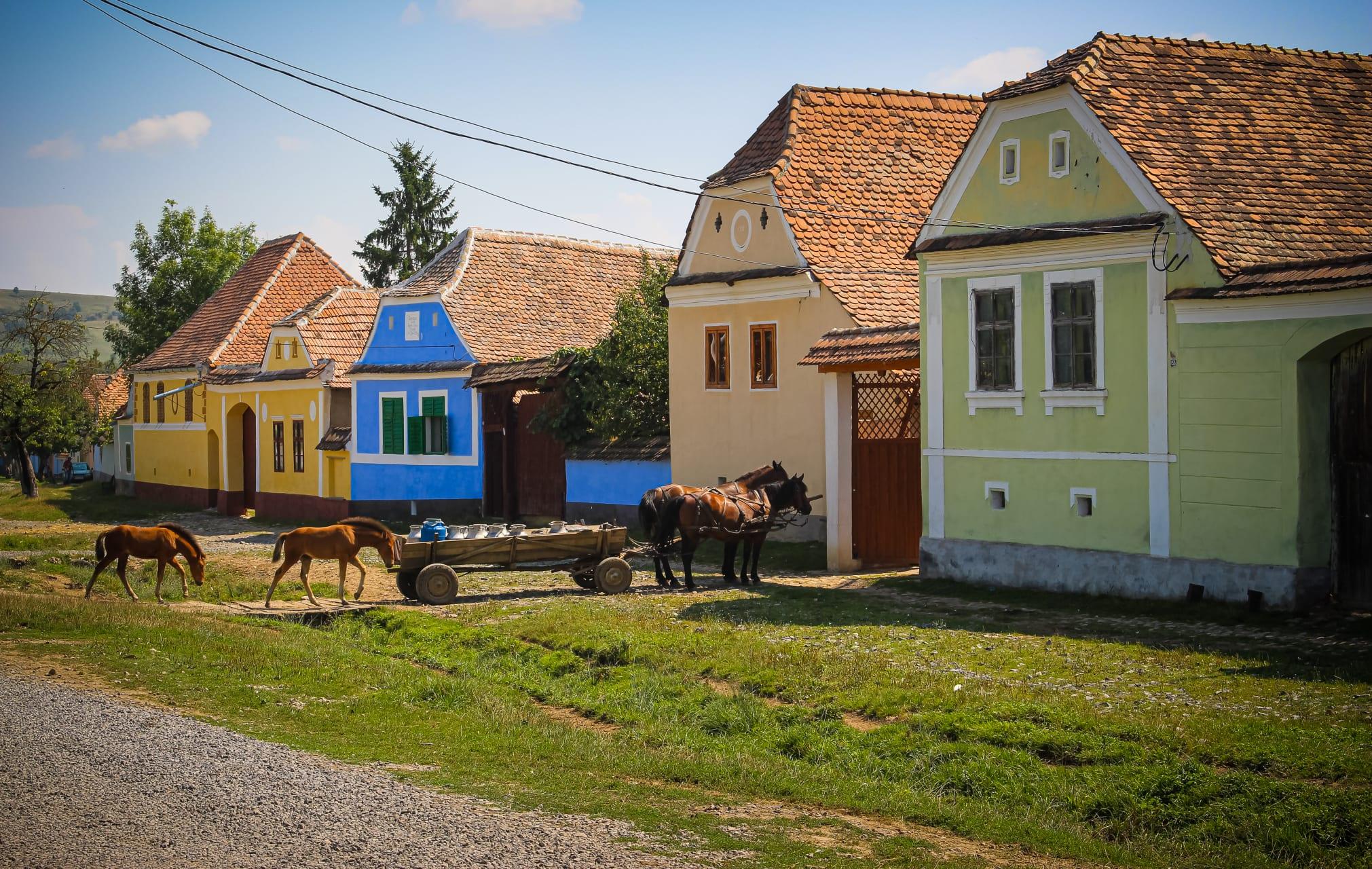 Transylvania - The Treasures of Transylvania: Horse drawn carriage ride through a UNESCO Saxon Village and its Fortified Church