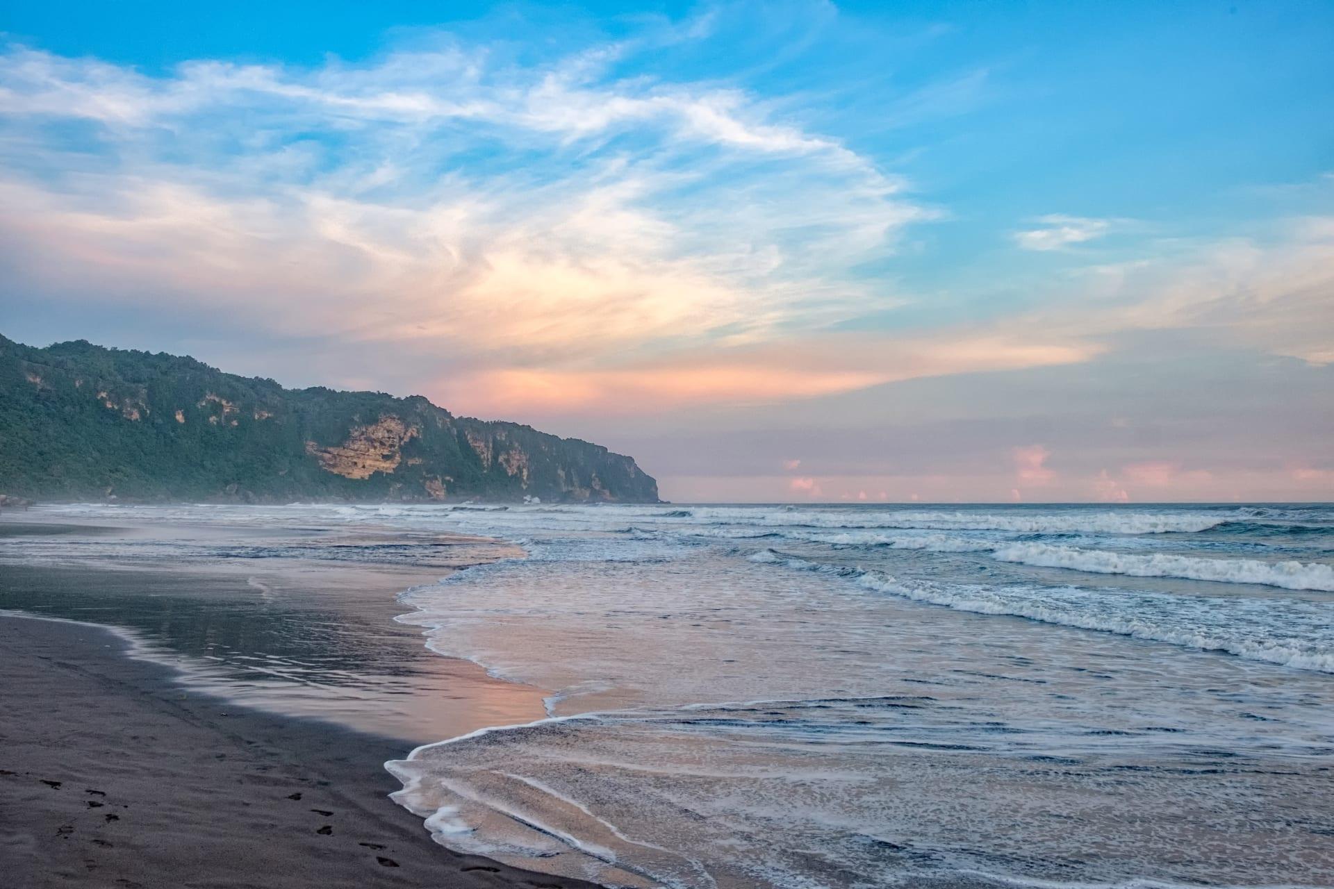 Yogyakarta - Sunset at Mystical Beach of Parangtritis in Yogyakarta