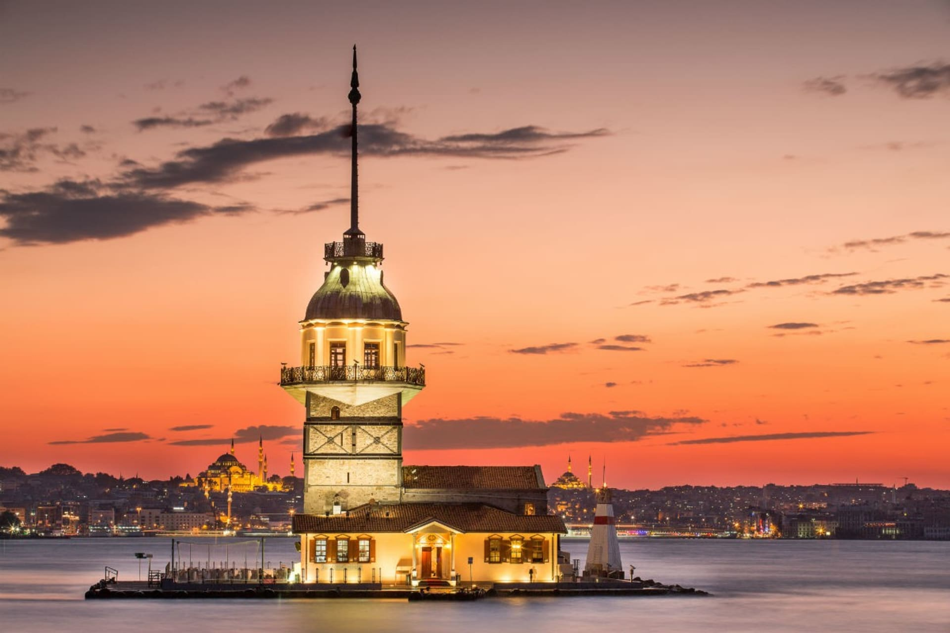 Istanbul -   Maiden's Tower, a Lonely Princess, Fallen into the Sea