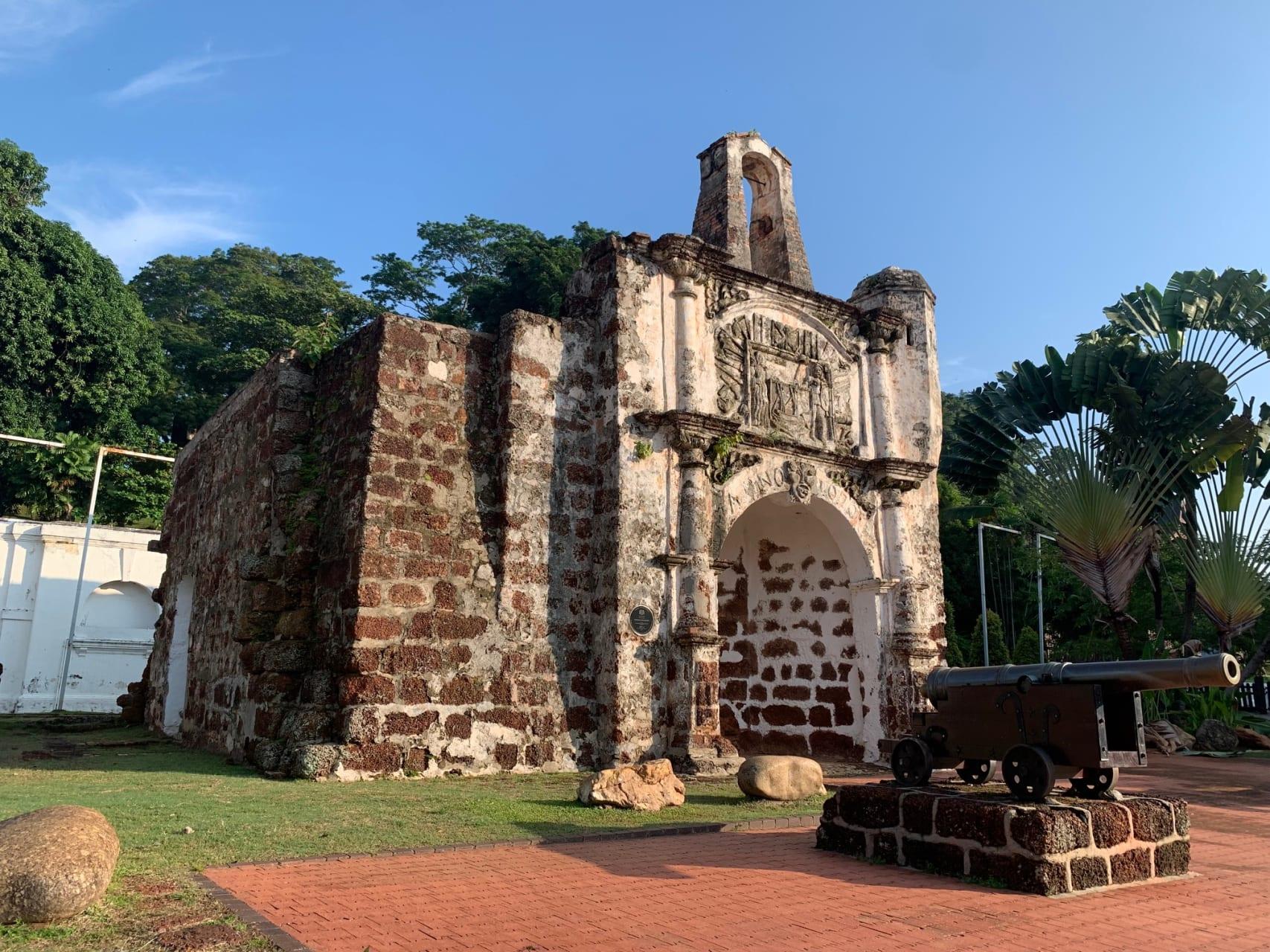 Melaka - Portuguese Remnants in UNESCO Heritage Core Zone of Melaka.