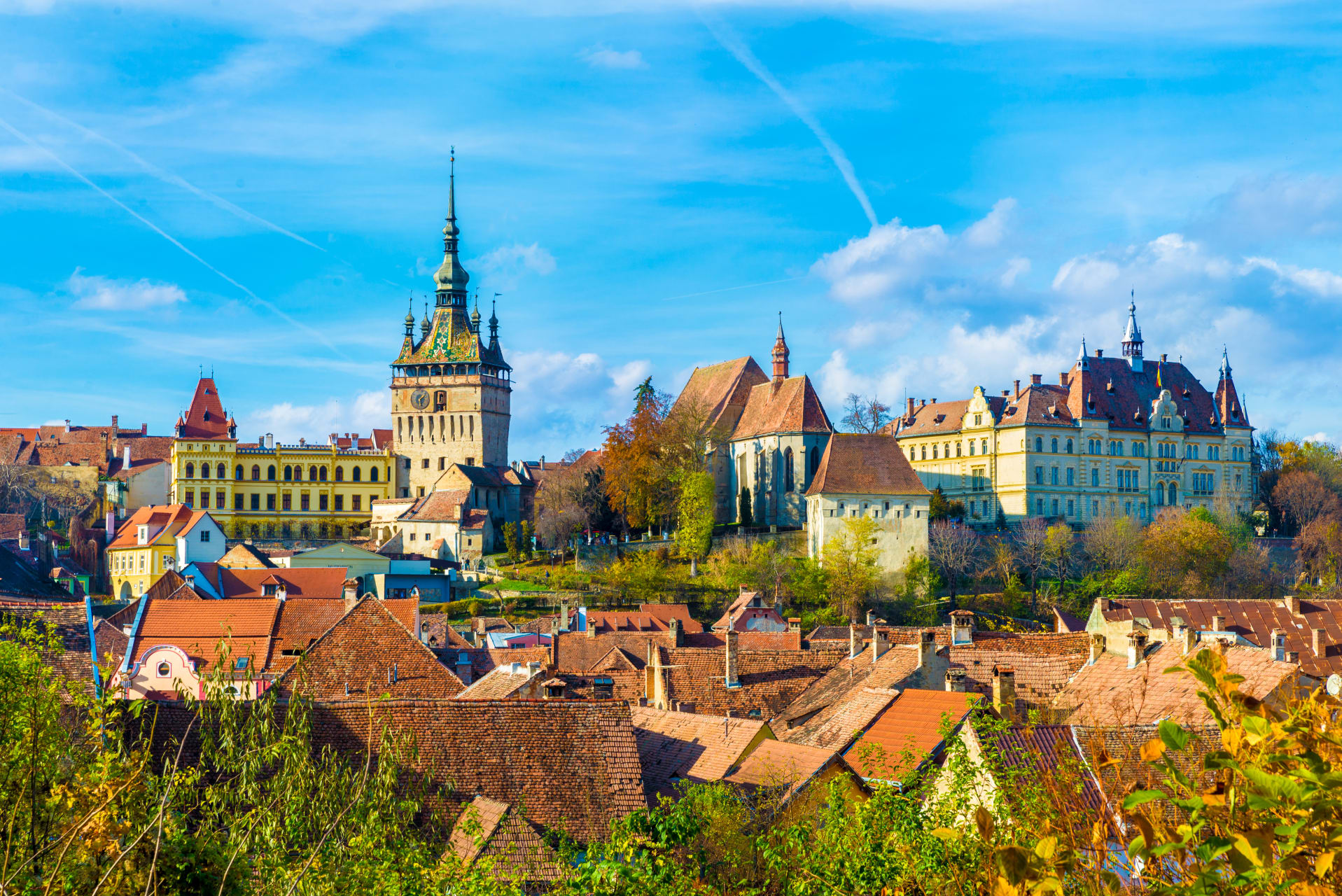 Transylvania - The UNESCO medieval citadel of Sighisoara: the birthplace of Vlad the Impaler (aka Dracula)