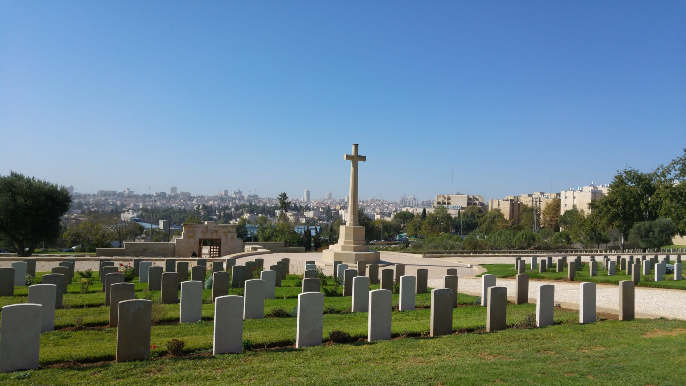 Jerusalem - Mount Scopus - From the British Cemetery to the Edge of the Desert