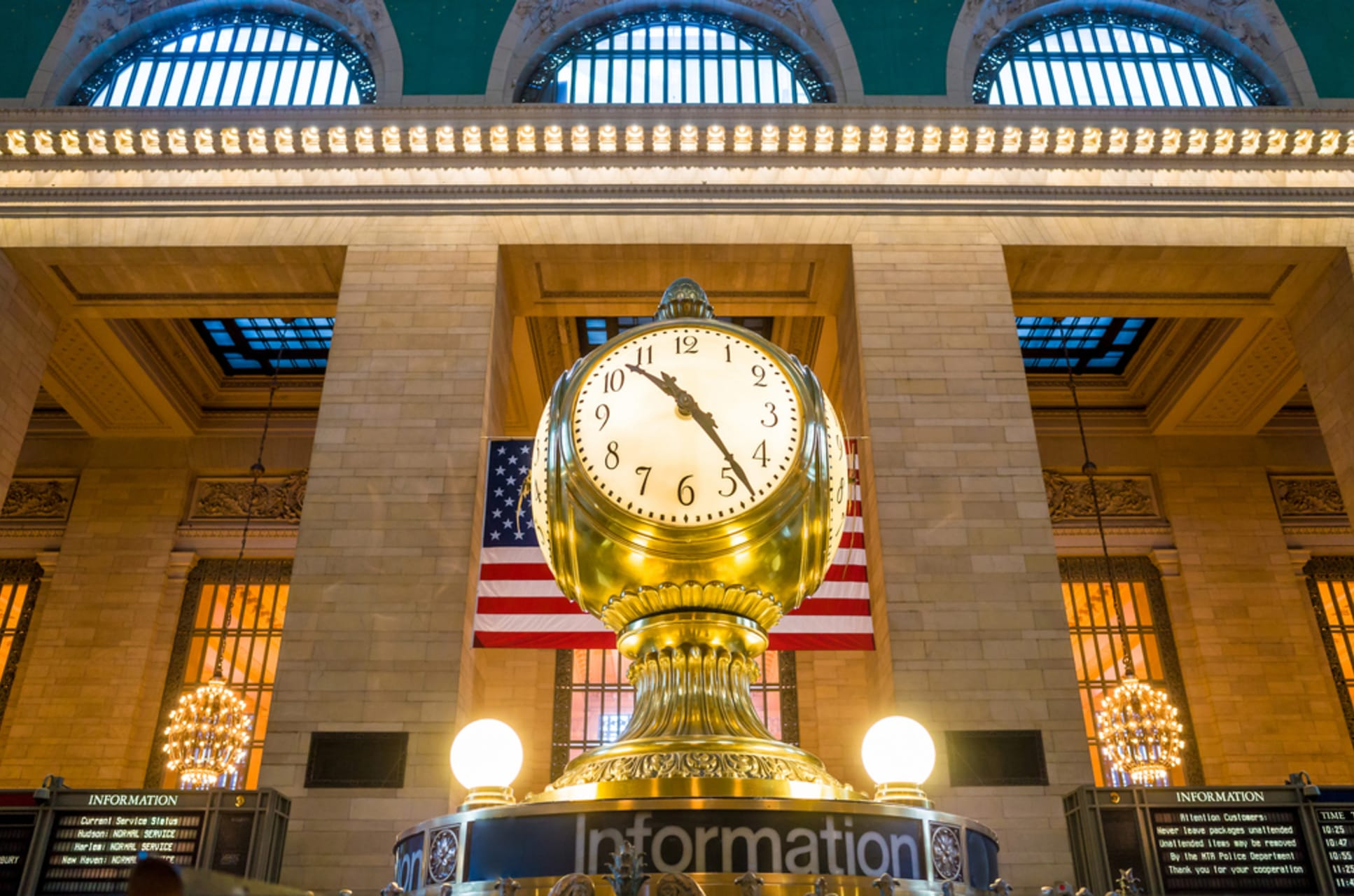 New York - Grand Central Terminal and Chrysler Building