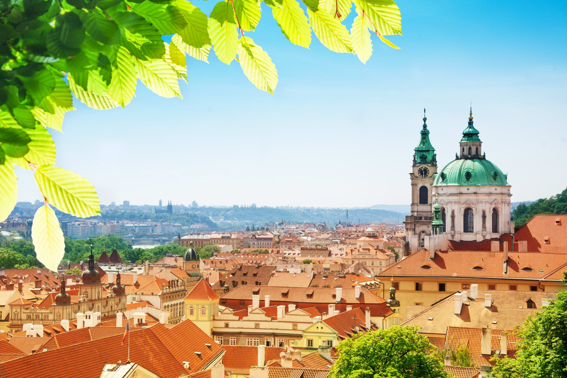 Prague -  The Most Beautiful Scenic Tour - Views From the Gardens of Prague Castle