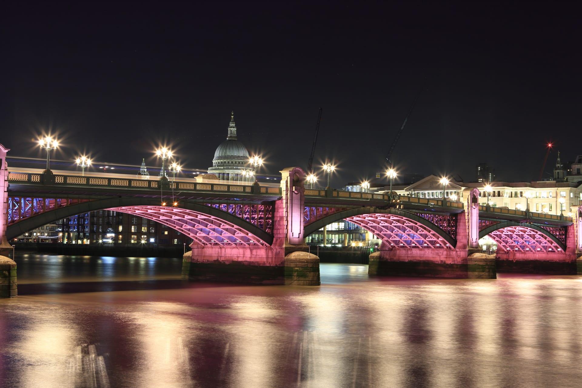 London - Illuminated River - London's Thames by night.