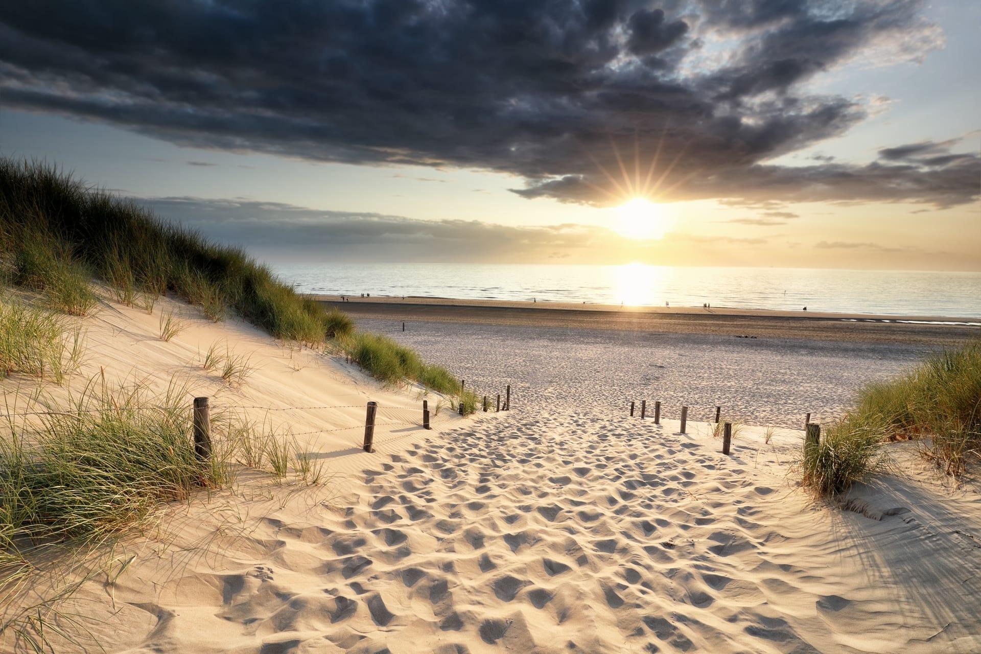 Amsterdam - A Dutch Beach: Sunset Amongst the Sand Dunes