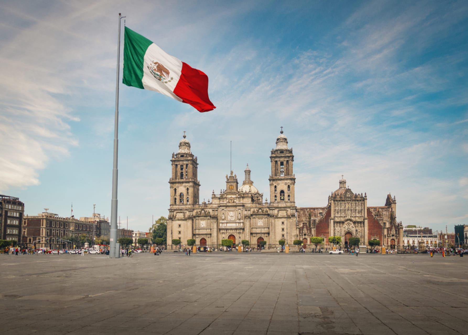 Mexico City - The Zocalo and the Foundation of Tenochtitlan